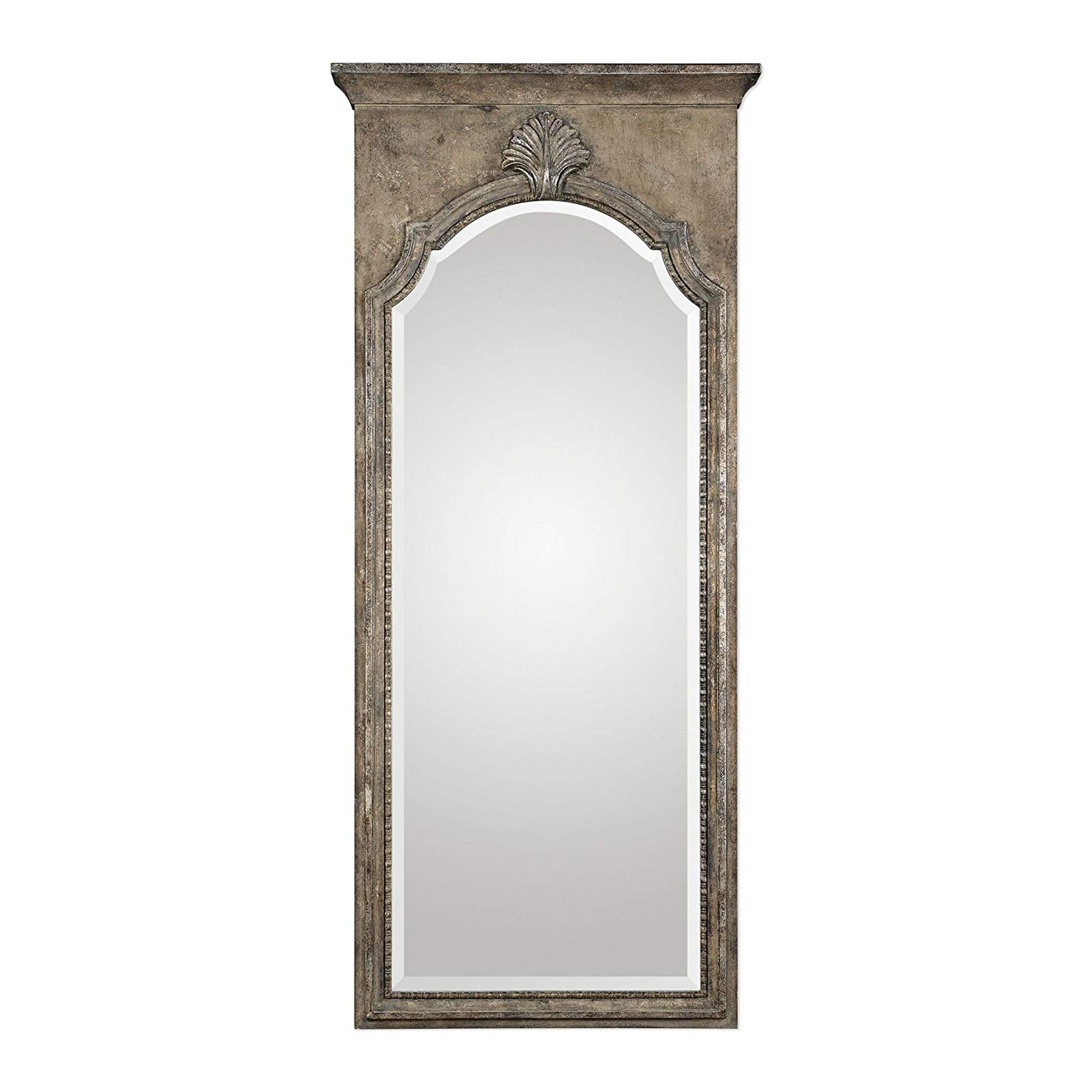 "Amazon: My Swanky Home Solid Wood 73"" Full Length Wall Mirror With Regard To Trendy Rectangle Ornate Geometric Wall Mirrors (View 14 of 20)"