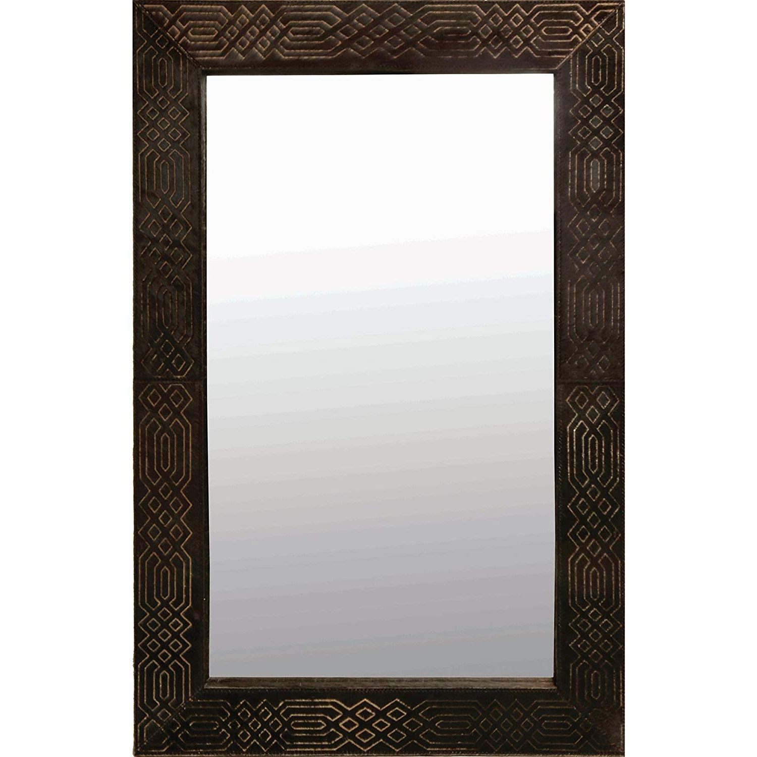Amazon: Ren Wil Cassini Wall Mirror: Home & Kitchen Inside Well Liked Leather Framed Wall Mirrors (View 8 of 20)