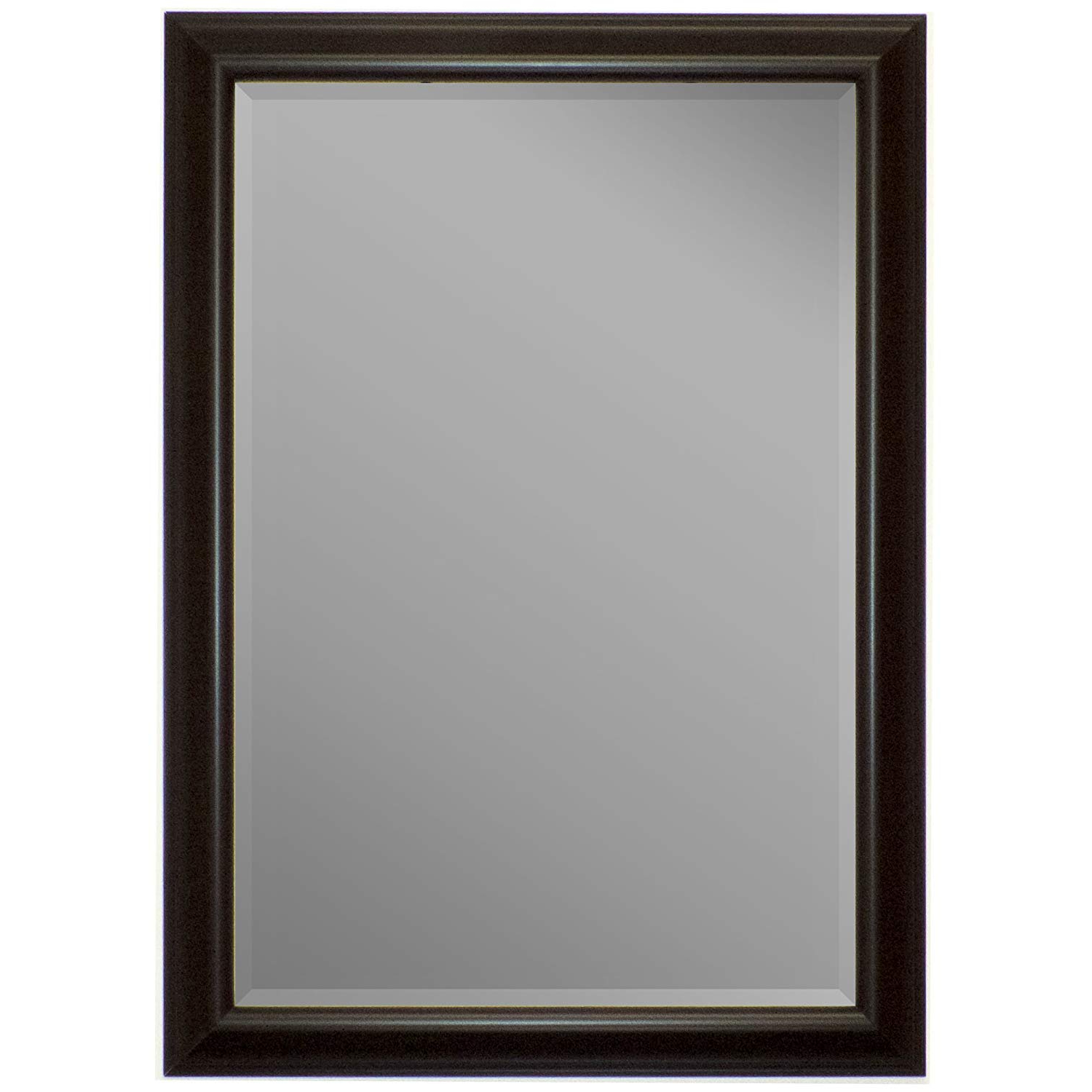 Amazon: Second Look Mirrors Glossy Silver Smoked Black Framed With Newest Black Wall Mirrors (View 11 of 20)