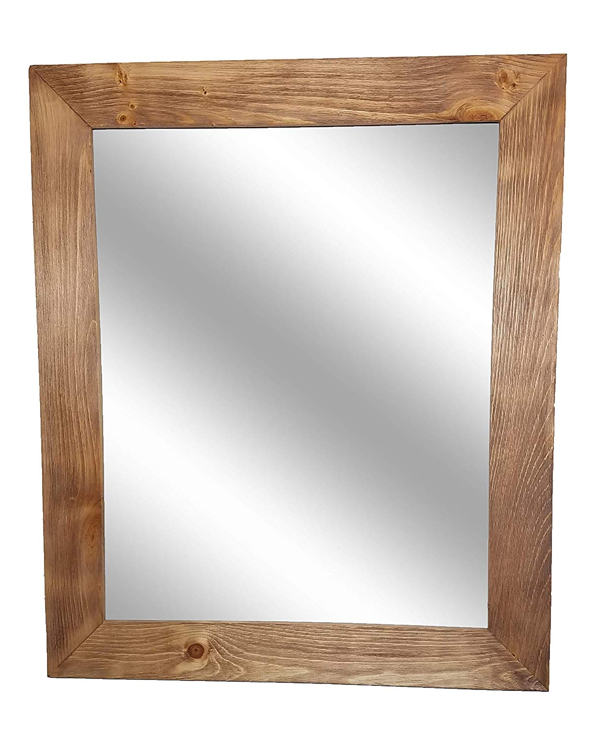 Amazon: Shiplap Large Wood Framed Mirror Available In 4 Sizes Intended For Most Recent Cherry Wood Framed Wall Mirrors (View 14 of 20)