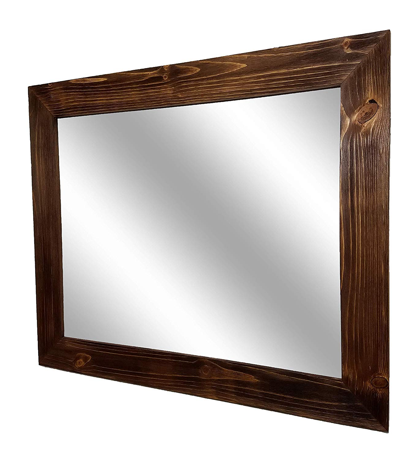 Amazon: Shiplap Large Wood Framed Mirror Available In 4 Sizes With Preferred Large Wood Framed Wall Mirrors (View 2 of 20)