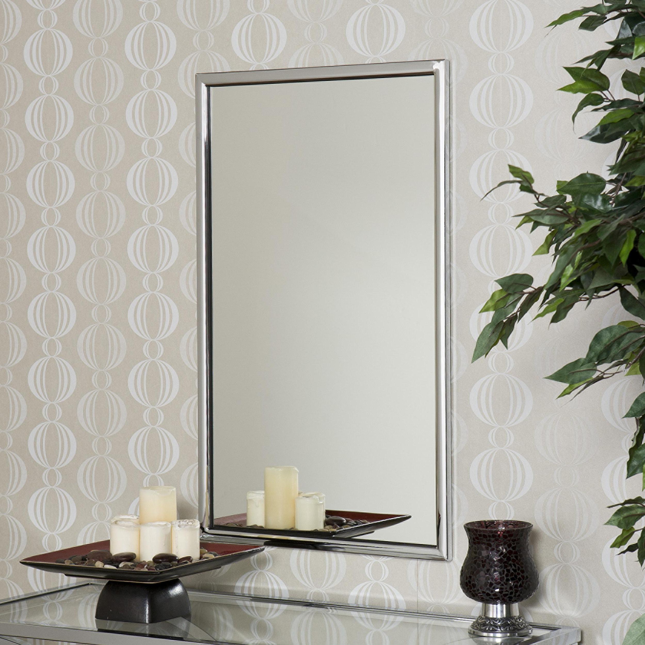 Amazon: Southern Enterprises Sei Vogue Chrome Wall Mirror For 2019 Chrome Wall Mirrors (View 4 of 20)
