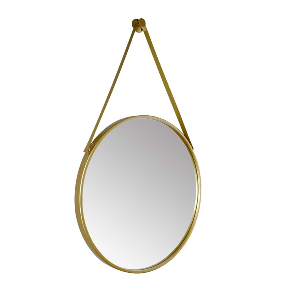Amazon: Wall Mirror Iron Art Round Mirror Nordic Bathroom Makeup Intended For 2020 Shatterproof Wall Mirrors (View 8 of 20)