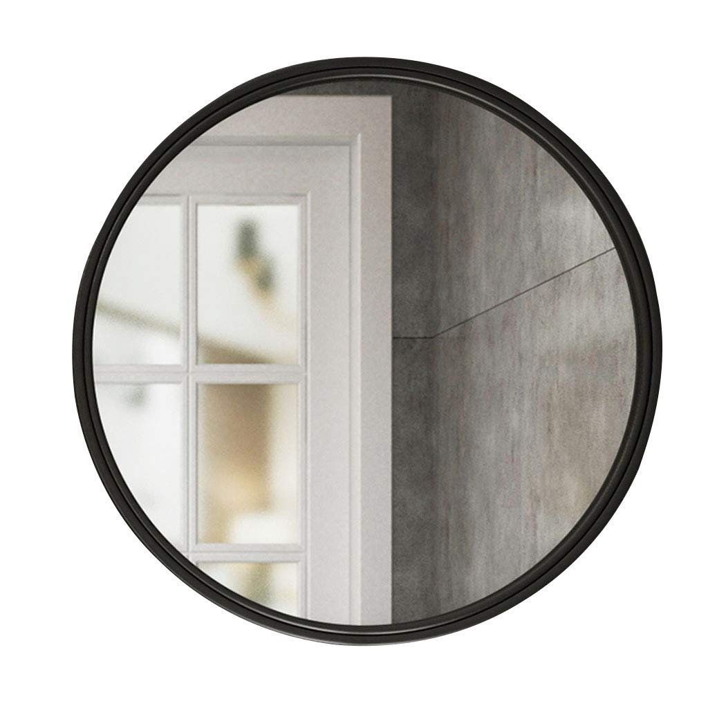 Amazon: Wall Mirror Round Metal Glass Shatterproof 30/40/50/60 Within 2019 Shatterproof Wall Mirrors (Gallery 2 of 20)
