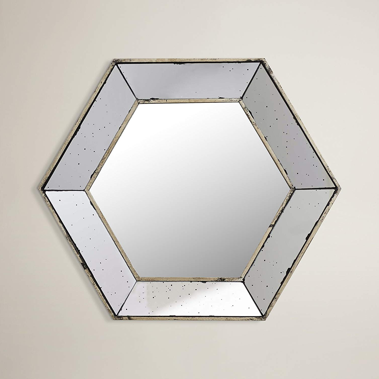 Amazon: Wall Mounted Mirror Hexagon Shape Design In Preferred Hexagon Wall Mirrors (View 16 of 20)
