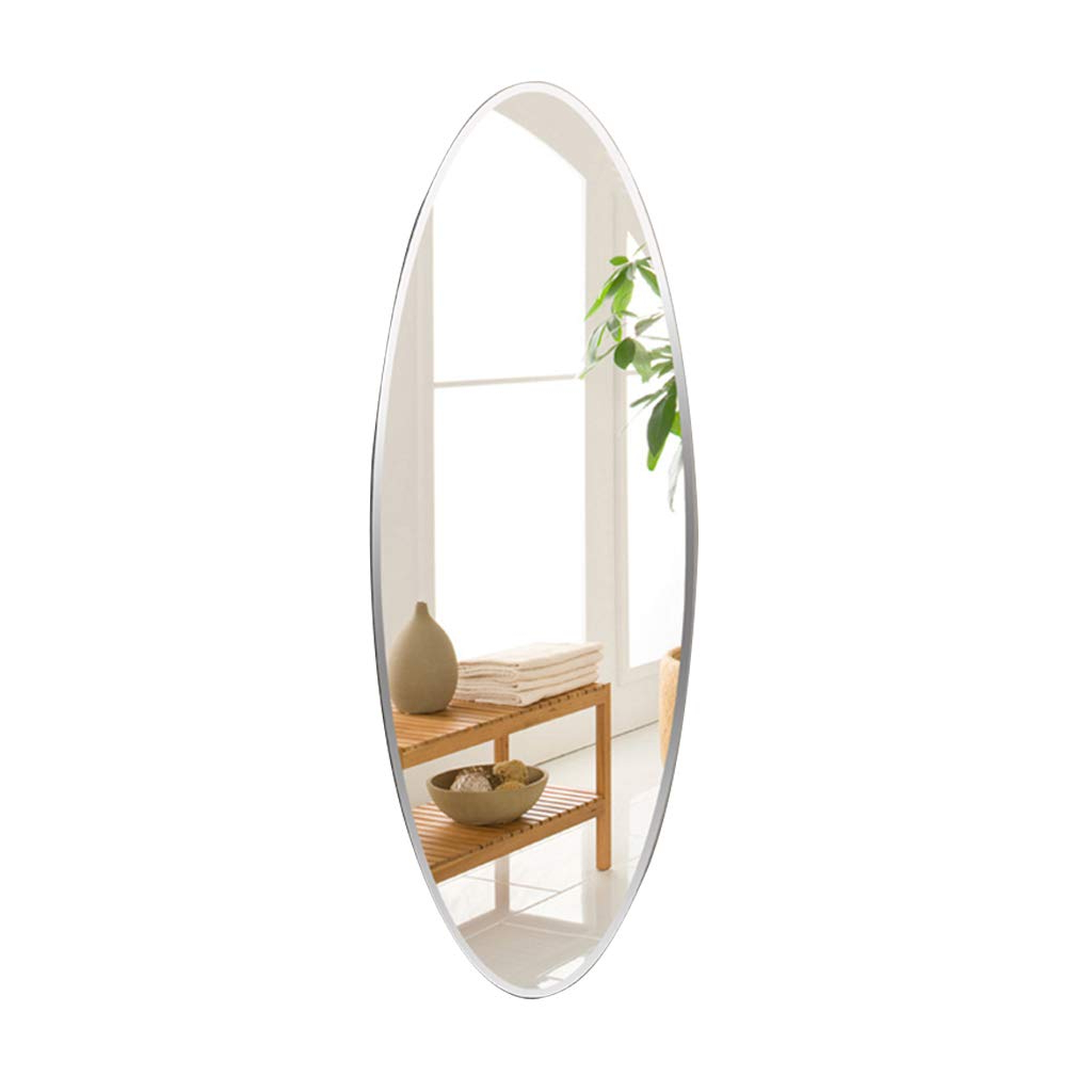 Amazon: Wall Mounted Mirror Oval Frameless Full Length Mirror Regarding Preferred Decorative Full Length Wall Mirrors (View 15 of 20)
