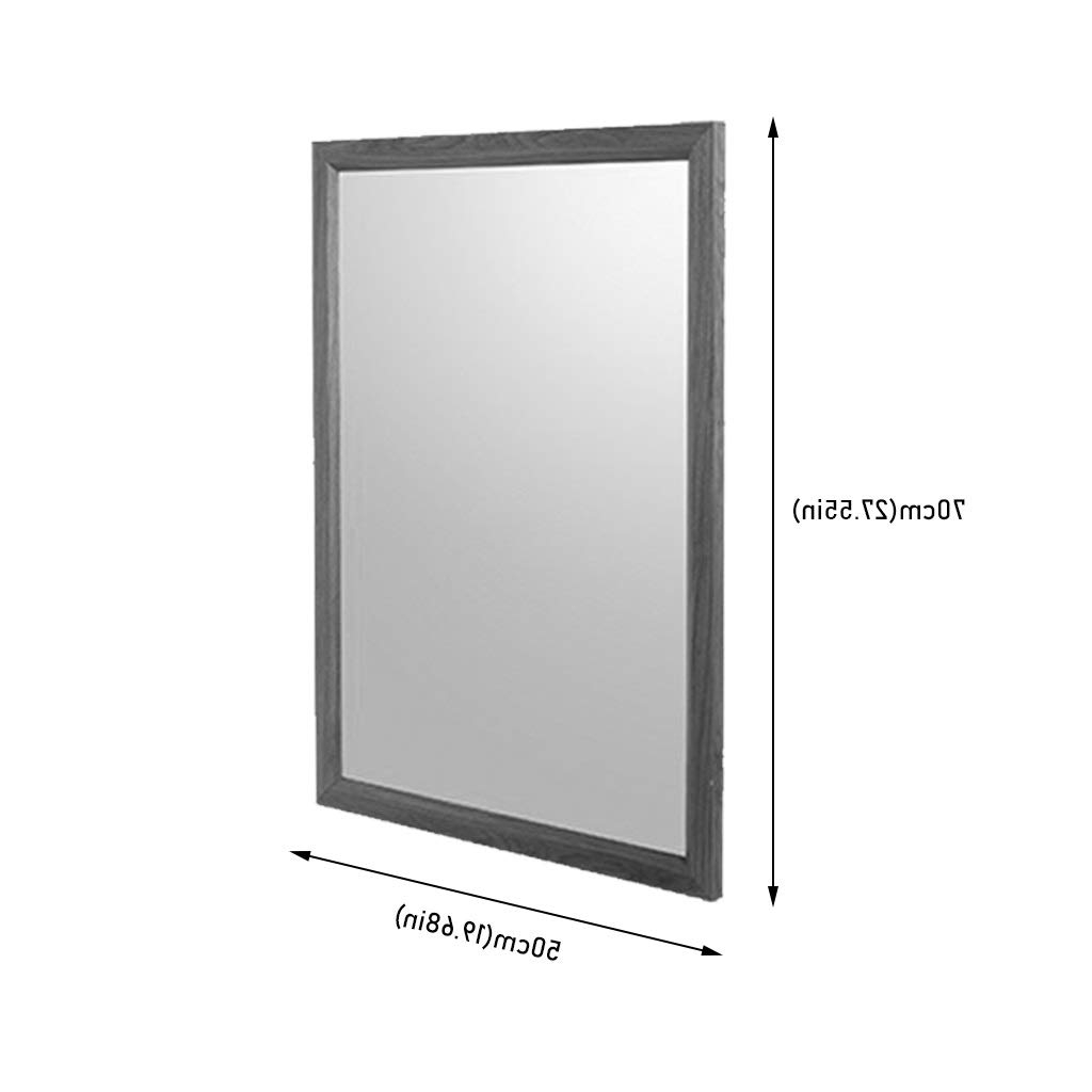 Amazon: Wall Mounted Mirror With Shelf, Hd Environmental Throughout Latest Wall Mirrors Without Frame (View 12 of 20)