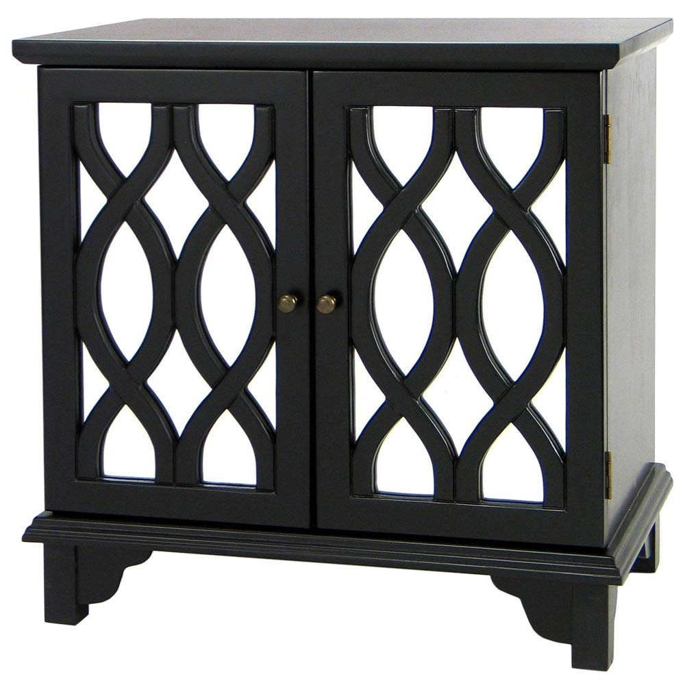 Amazon: Wayborn Home Furnishing Tanner Mirror Cabinet, Black With Regard To Favorite Tanner Accent Mirrors (Gallery 17 of 20)