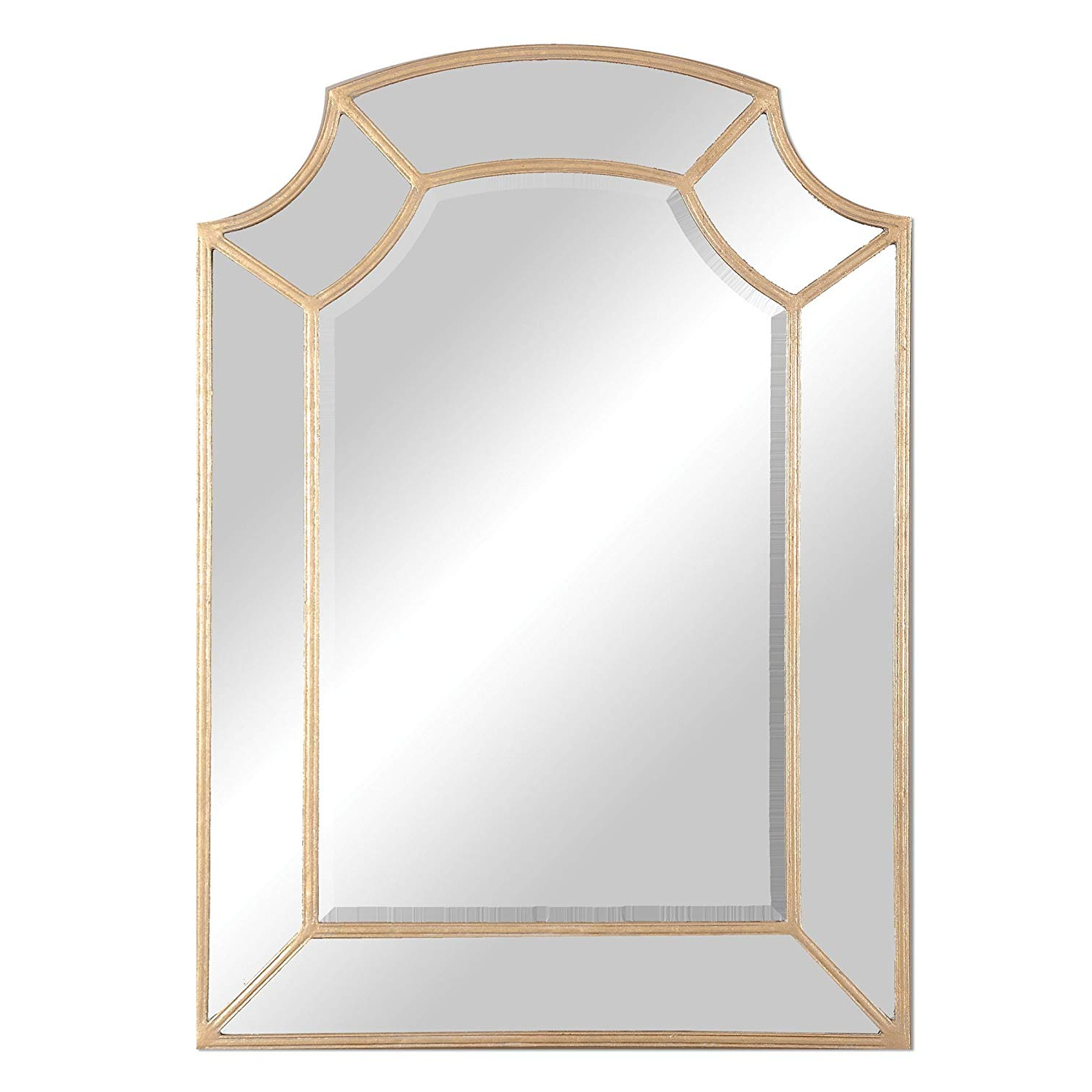 Amazon: Zinc Decor Large Hand Forged Metal Gold Arch Wall Mirror Throughout Fashionable Gold Arch Wall Mirrors (View 5 of 20)