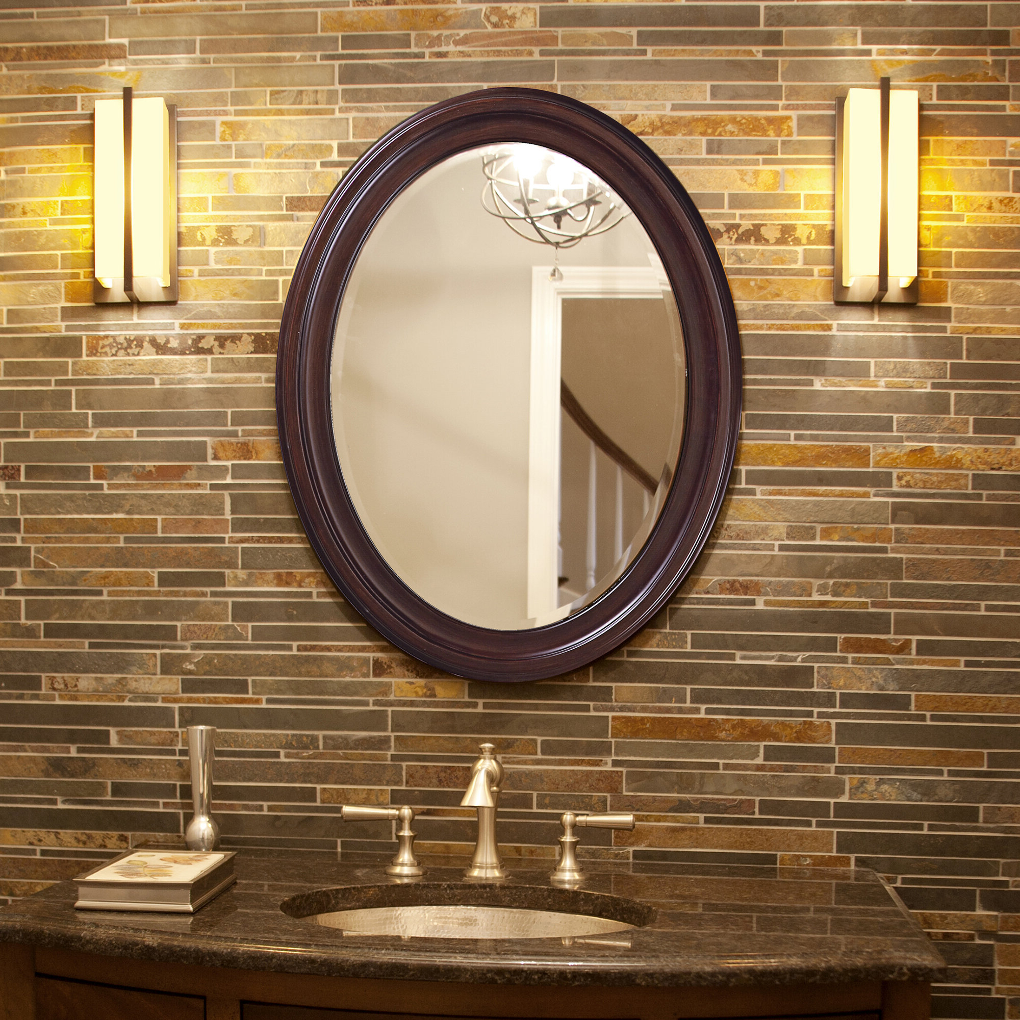 Andover Mills Pfister Oval Wood Wall Mirror Inside Most Up To Date Oval Wood Wall Mirrors (View 8 of 20)