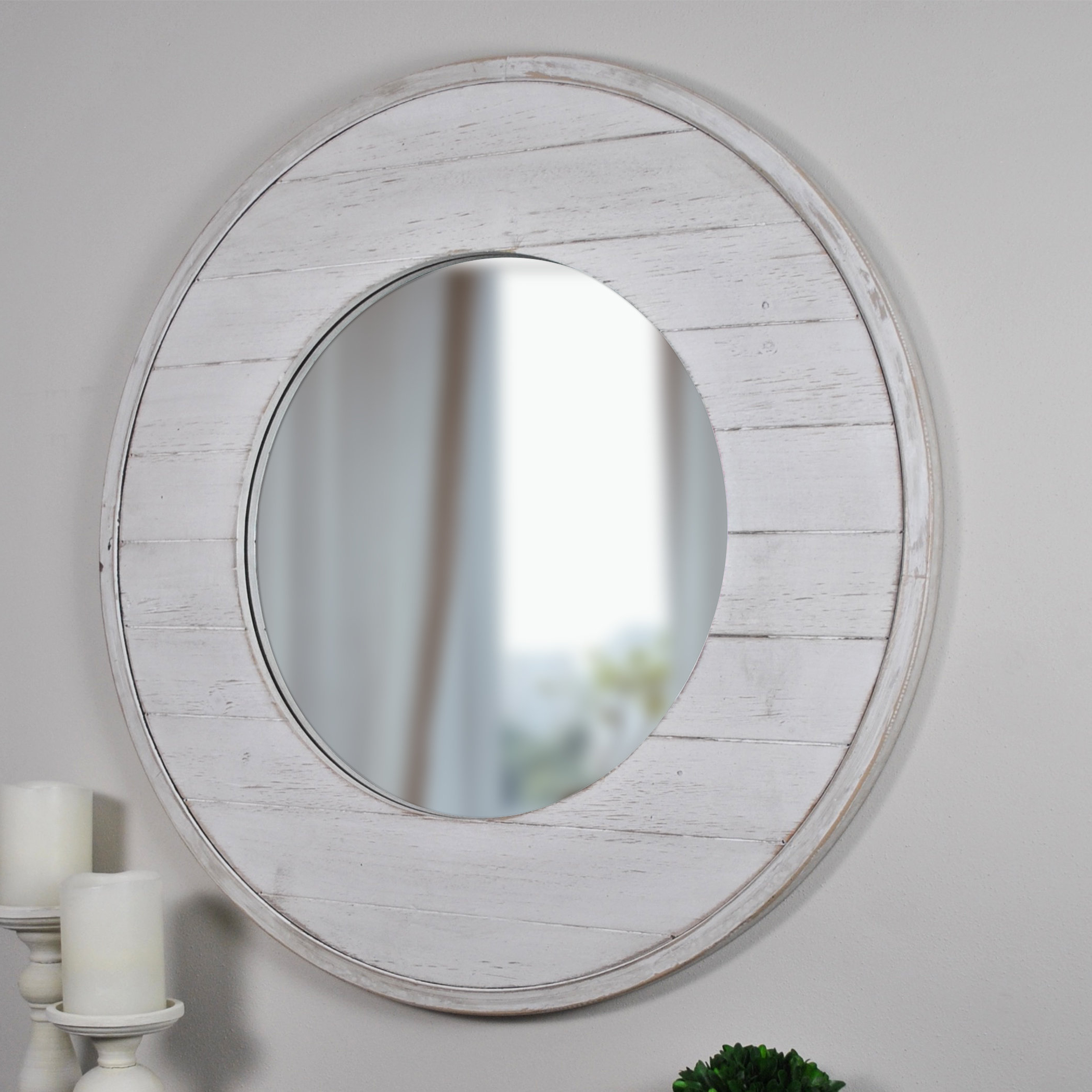 Andrade Shiplap Coastal Distressed Accent Mirror Inside 2020 Gaunts Earthcott Wall Mirrors (View 10 of 20)