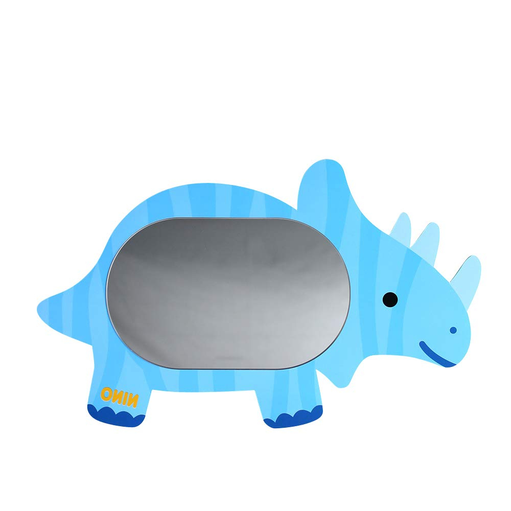 Antique Alive Dinosaur Triceratops Safe Eva Unbreakable Acrylic Kids Boy Girl Baby Children Room Bathroom Kindergarten Wall Home Decor Cute Mirror Pertaining To Most Recently Released Baby Safe Wall Mirrors (View 5 of 20)