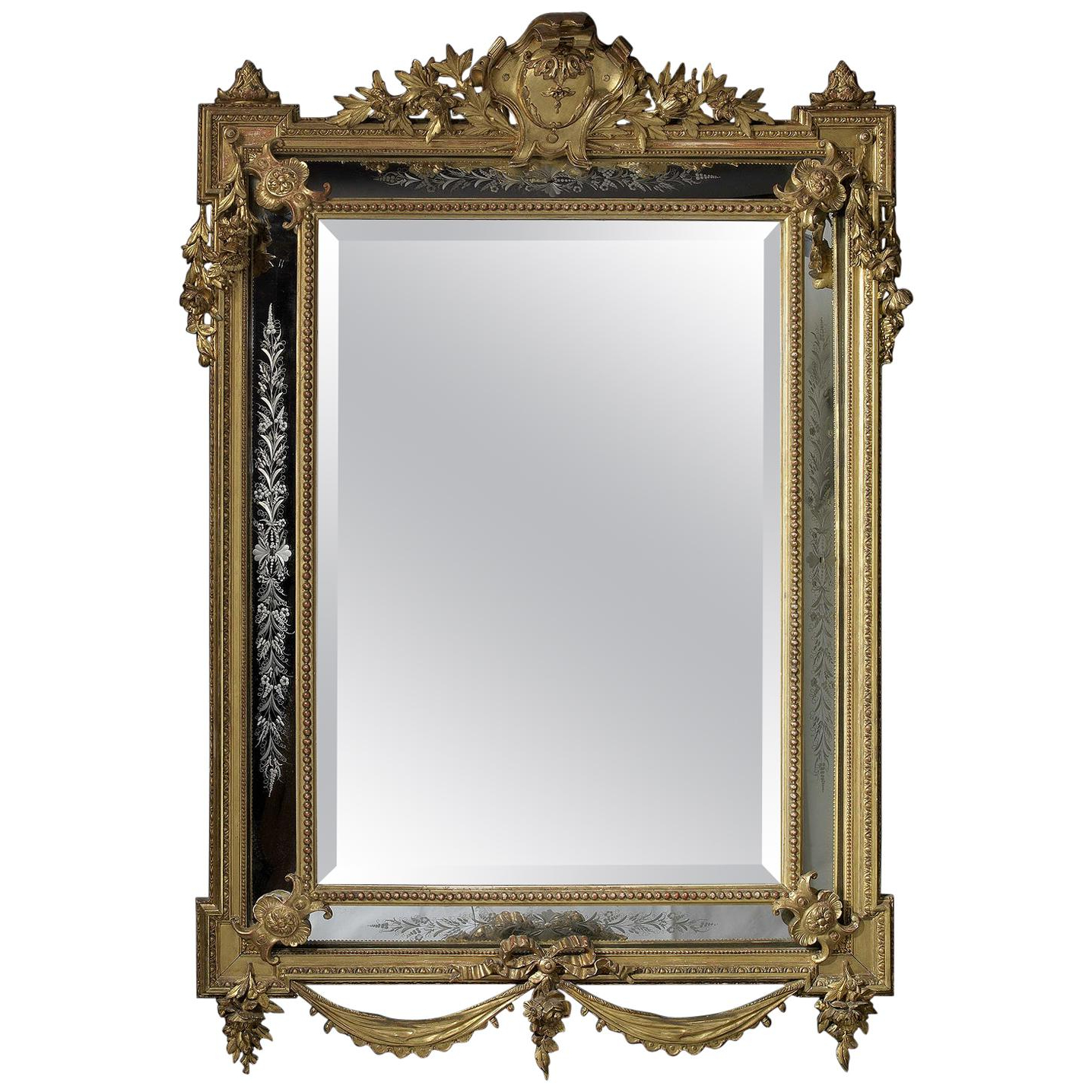 Antique And Vintage Wall Mirrors – 13,029 For Sale At 1stdibs For Newest Old Fashioned Wall Mirrors (View 7 of 20)