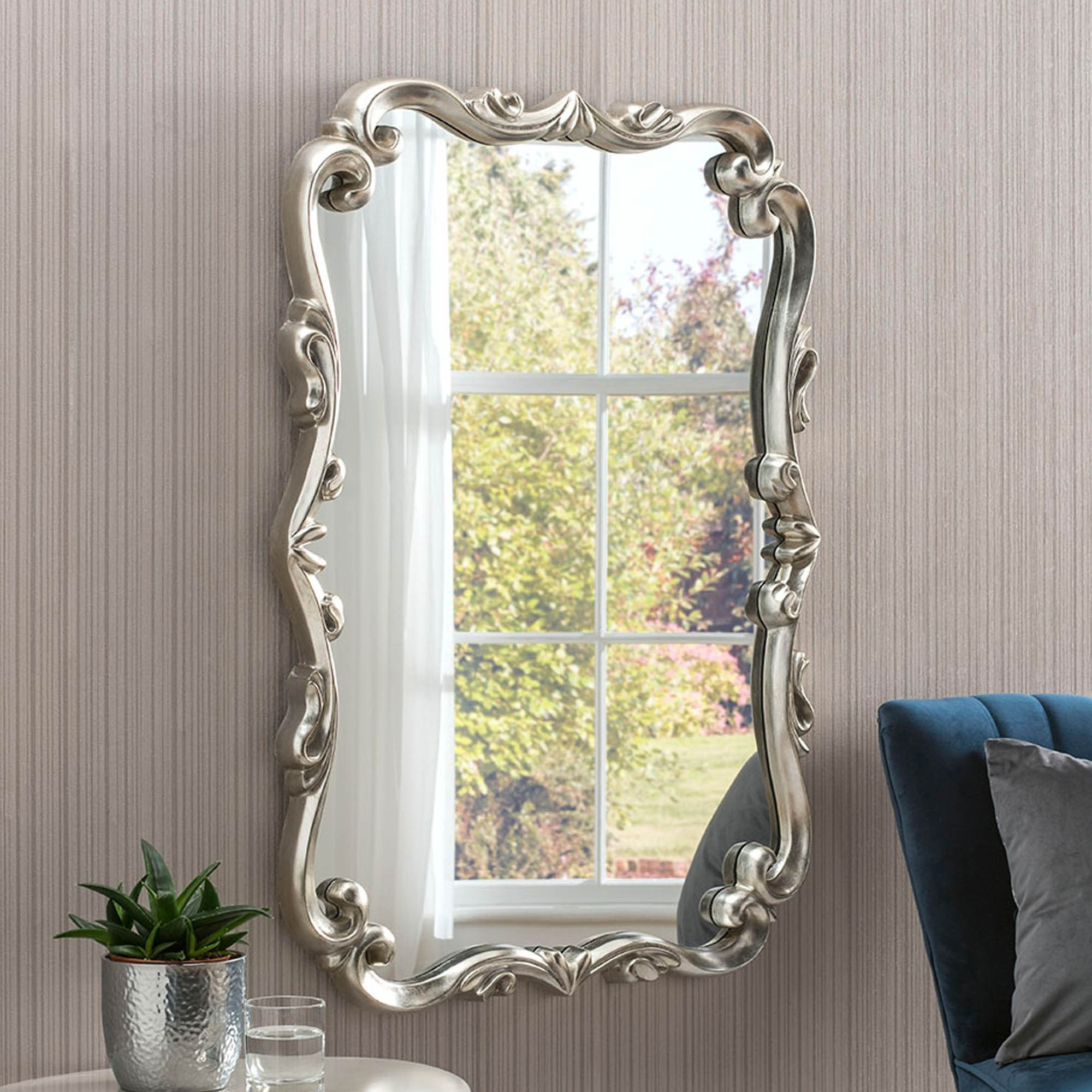 Antique French Style Champagne Wall Mirror Within Most Recently Released Champagne Wall Mirrors (View 9 of 20)