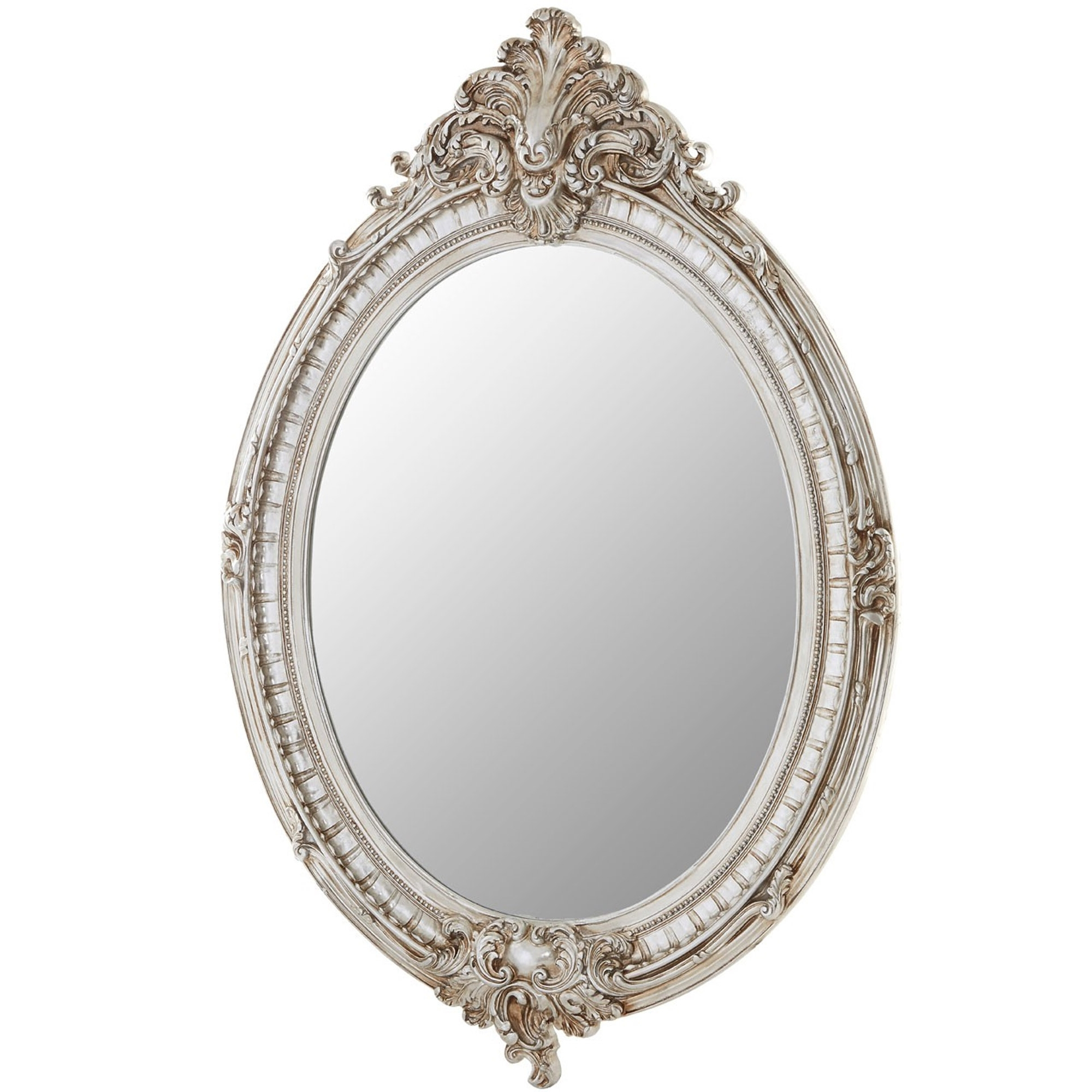 Antique French Style Juliet Oval Framed Wall Mirror In Newest Antique Oval Wall Mirrors (View 2 of 20)