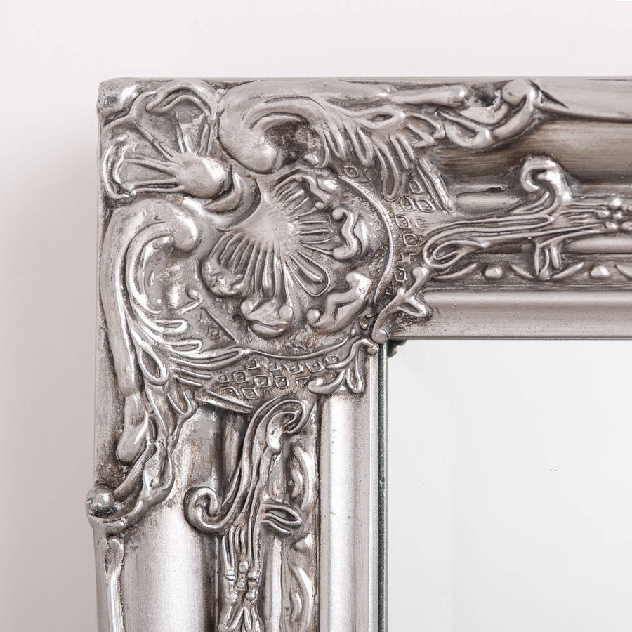 Antique Full Length Wall Mirrors With Popular Ornate Vintage Silver Pewter Mirror Full Length (View 11 of 20)
