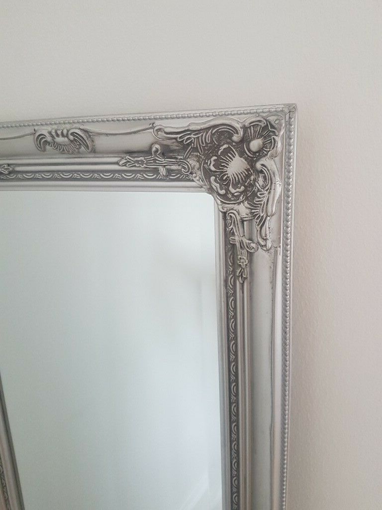 Antique Full Length Wall Mirrors Within Well Liked Tall Antique Silver Full Length Floor Wall Mirror (View 12 of 20)