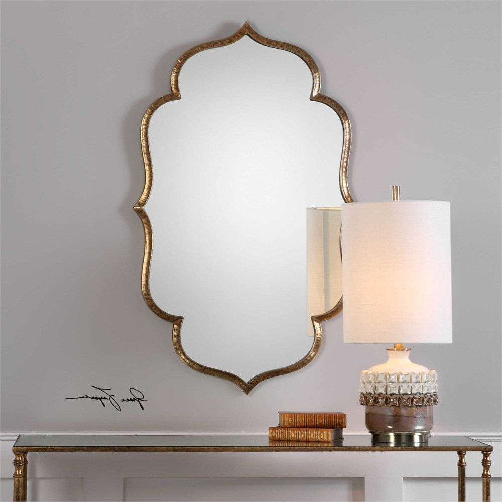 Antique Gold Moroccan Mirror (View 4 of 20)
