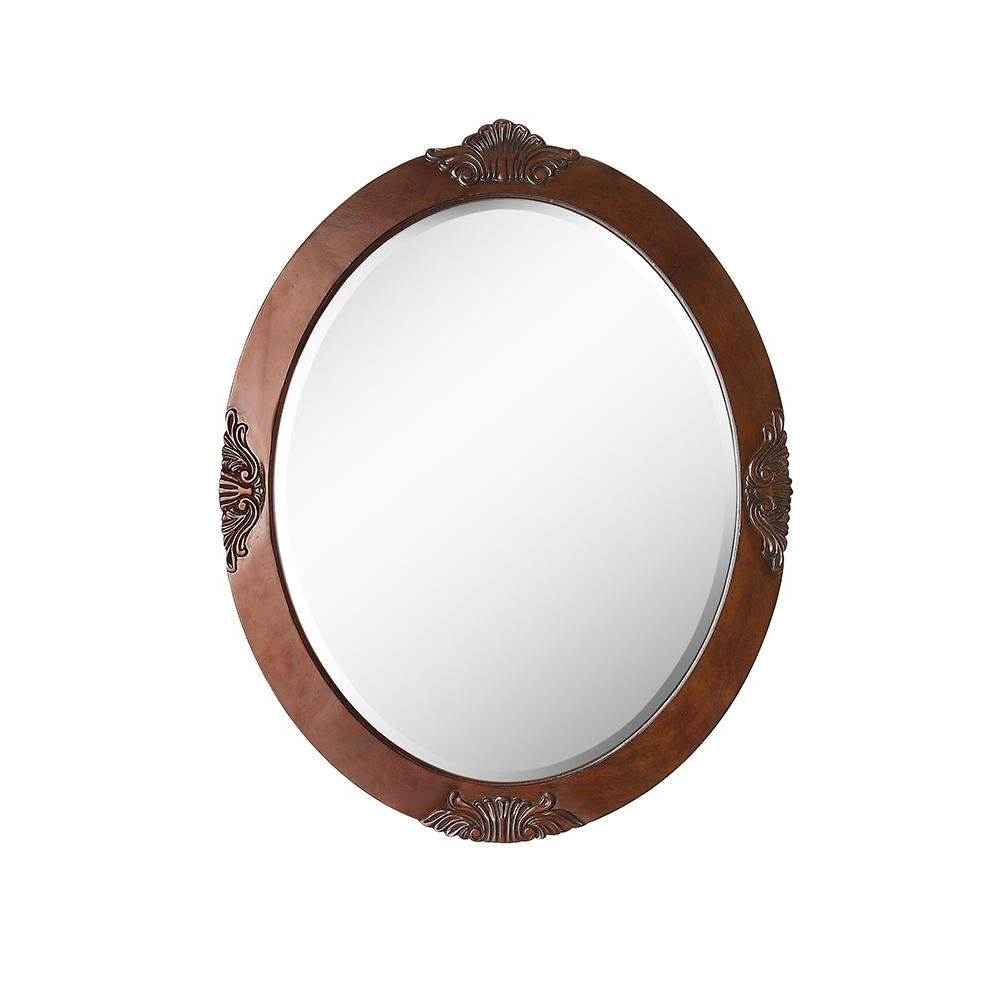 Antique Oval Wall Mirrors Within Popular Home Decorators Collection Winslow 30 In. X 37.75 In (View 6 of 20)