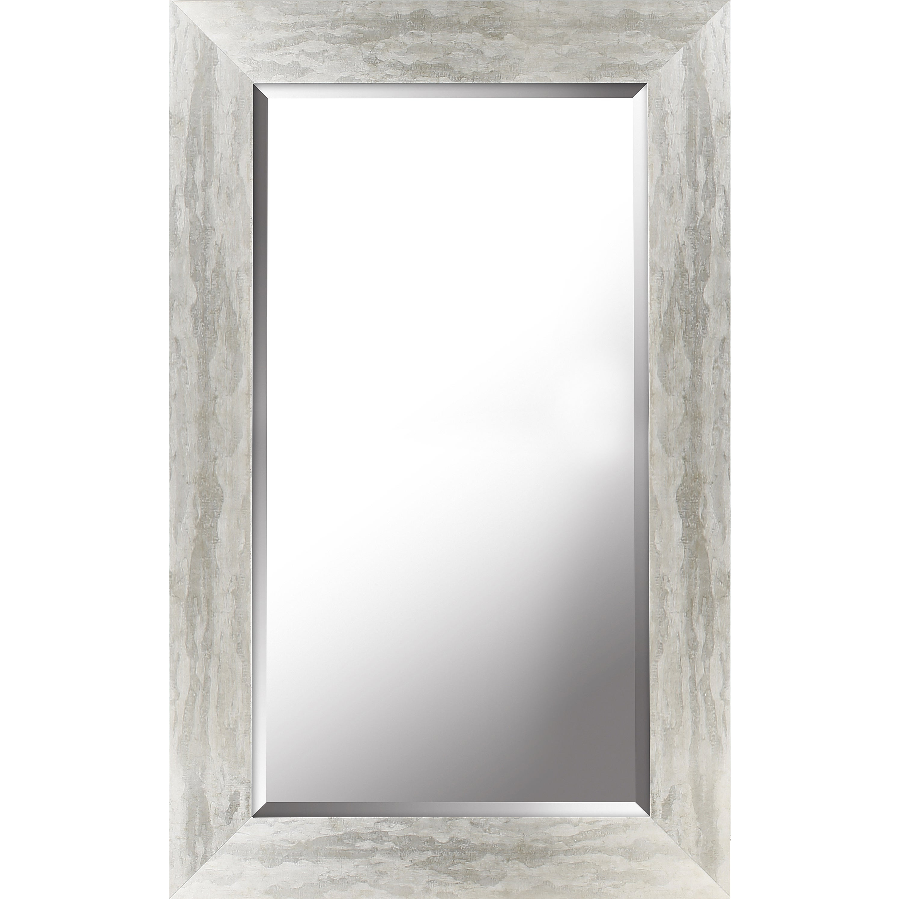 Antique Silver Finish Beveled Wall Mirror 26.50x42.50x (View 19 of 20)