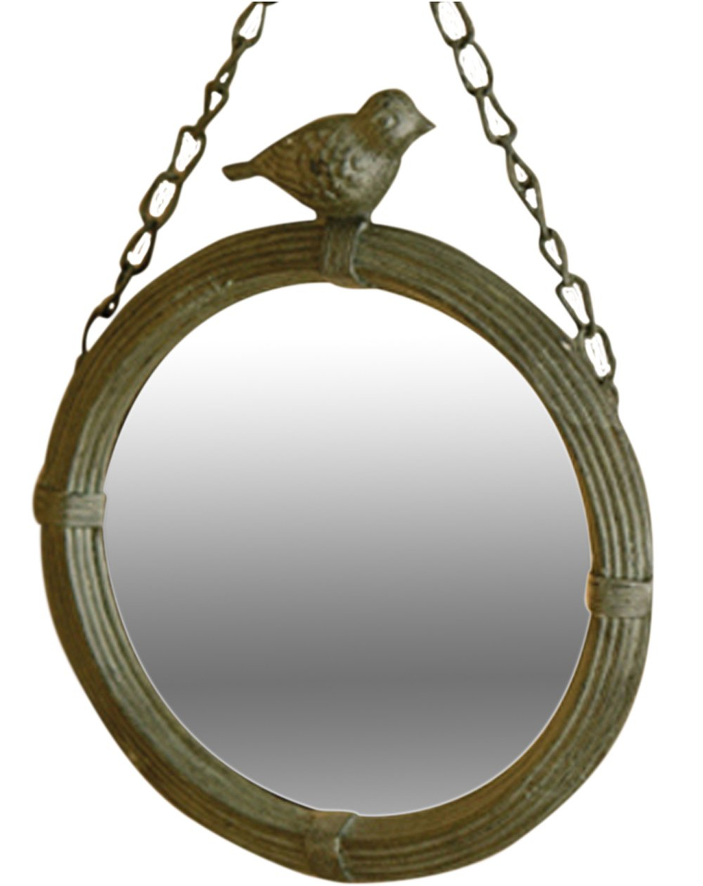 Antique Style Metal Wall Mirror With Bird Home Decor Intended For Most Recently Released Bird Wall Mirrors (View 2 of 20)
