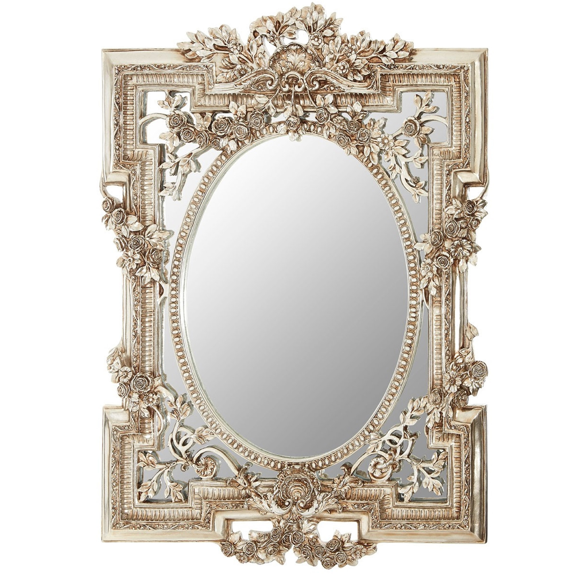 Antique Wall Mirrors In Most Current Antique French Style Juliet Framed Wall Mirror (Gallery 2 of 20)
