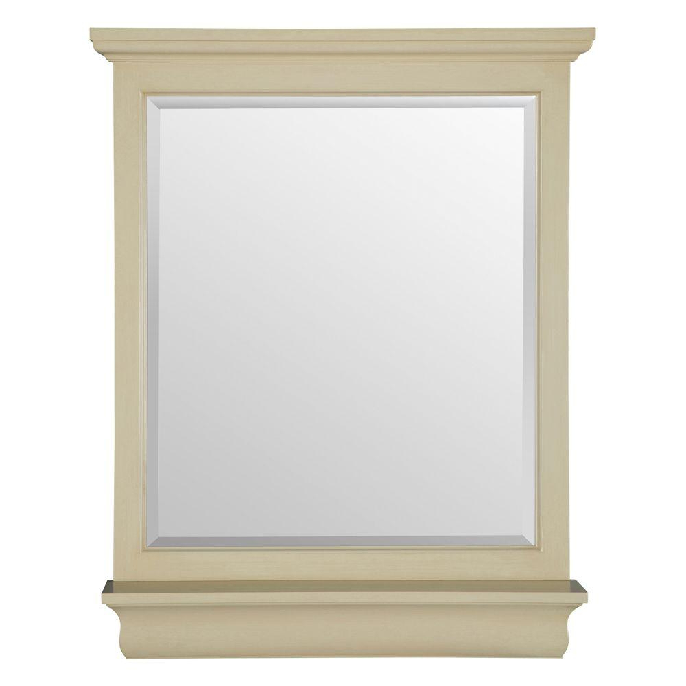 Antique White Wall Mirrors Pertaining To Widely Used Home Decorators Collection Cottage 38 In. L X 28 In. W Vanity Wall Mirror In Antique White (Gallery 16 of 20)