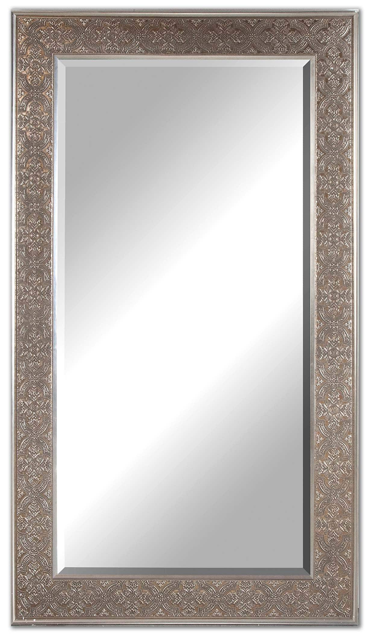 Antiqued Wall Mirrors Within Most Recently Released Villata Antique Silver Wall Mirroruttermost – 40″ X 70″ (View 9 of 20)