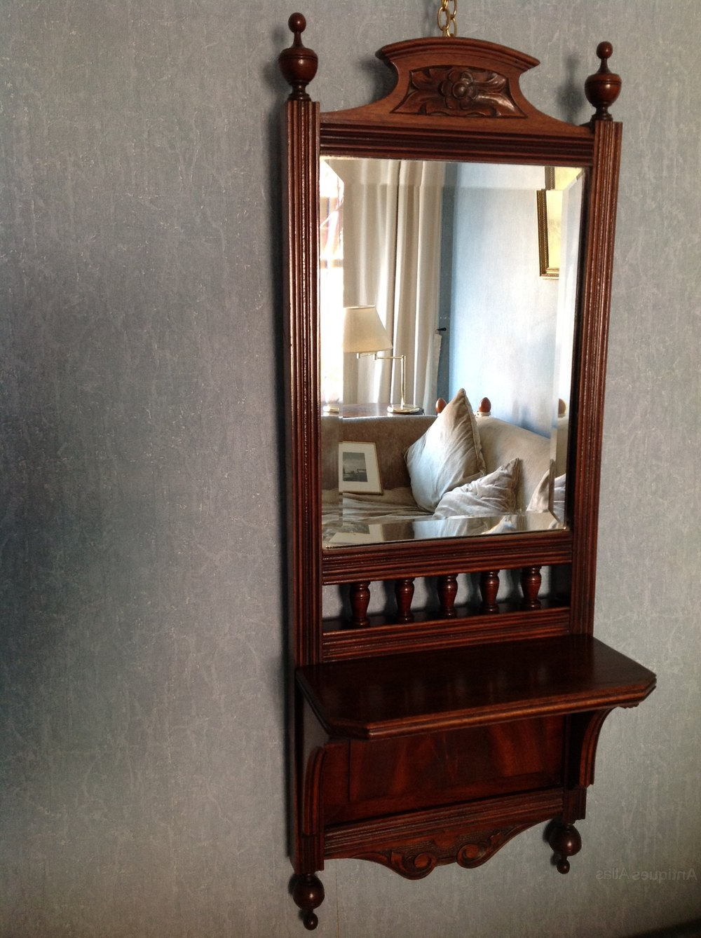 Antiques Atlas – Edwardian (C 1900) Carved Mahogany Wall Mirror Inside Most Up To Date Mahogany Wall Mirrors (Gallery 15 of 20)