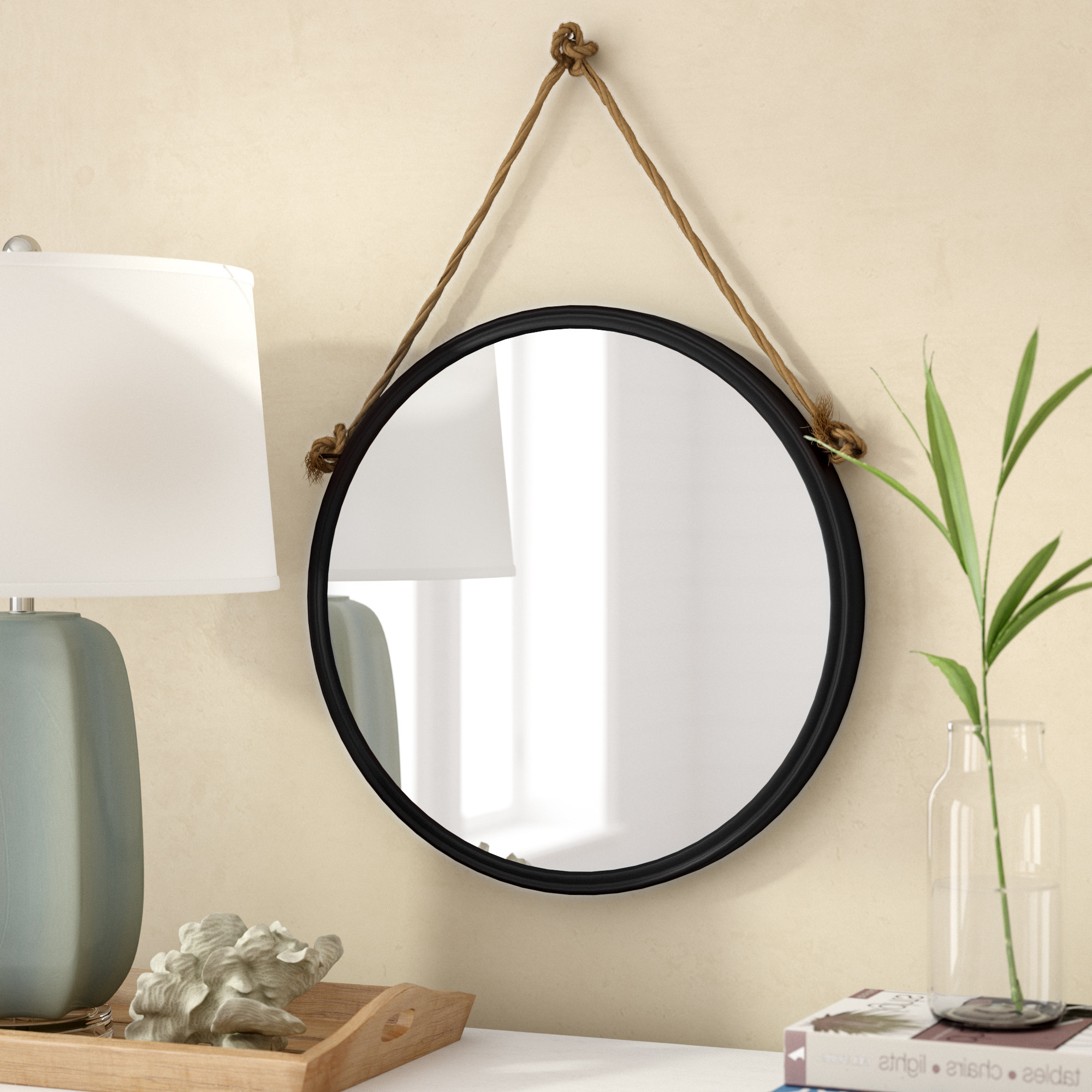 Anupam Hanging Traditional Beveled Distressed Accent Mirror With Regard To Widely Used Traditional/coastal Accent Mirrors (View 8 of 20)