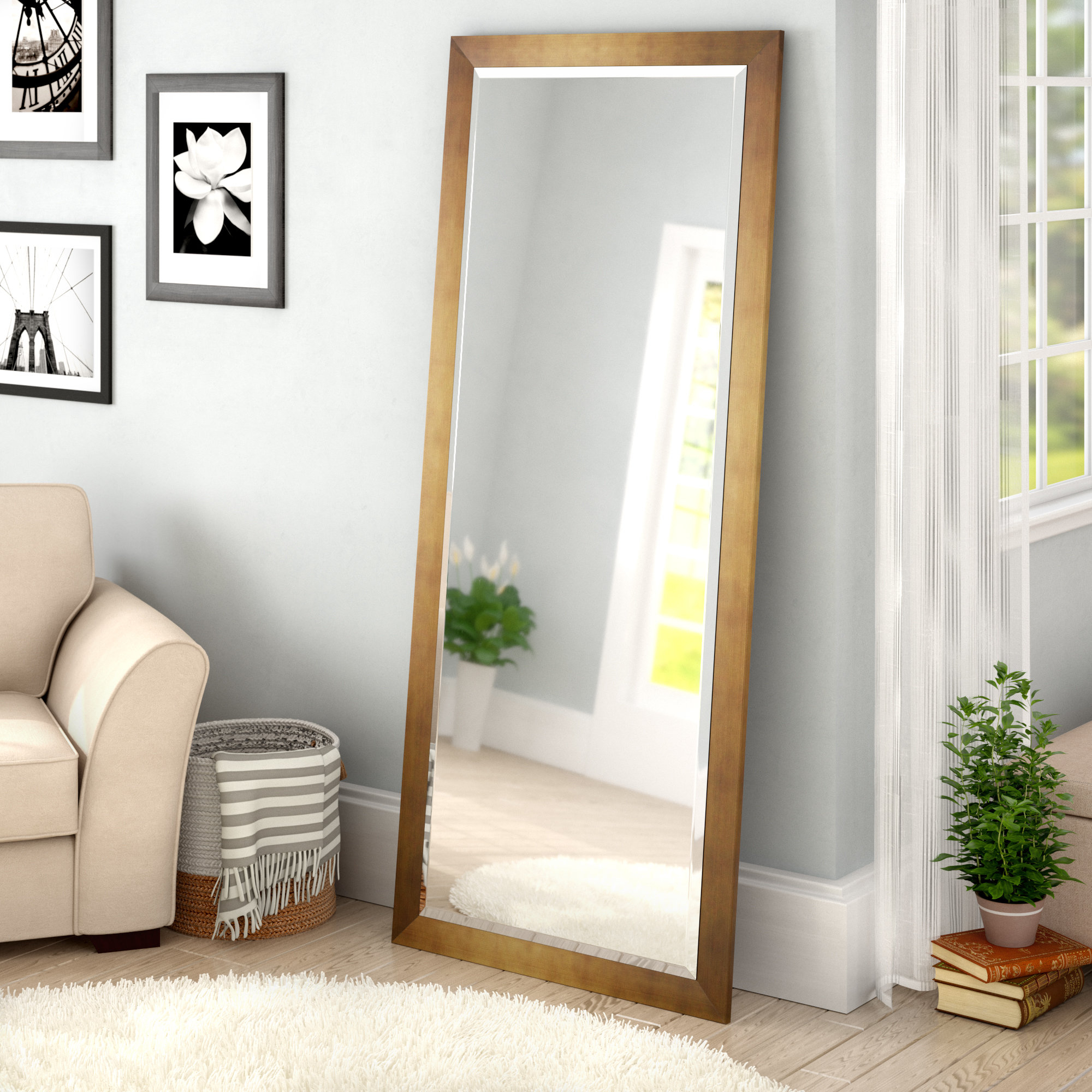 Apostol Slender Body Floor Traditional Full Length Mirror Pertaining To Best And Newest Dalessio Wide Tall Full Length Mirrors (View 2 of 20)