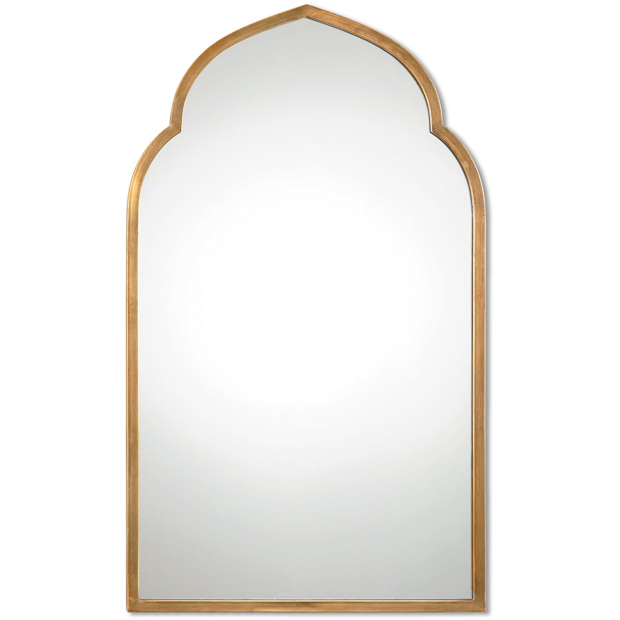 Arch Vertical Wall Mirrors Throughout Well Known Uttermost Kenitra Gold Arch Decorative Wall Mirror – Antique Silver –  24X40X1.125 (Gallery 7 of 20)