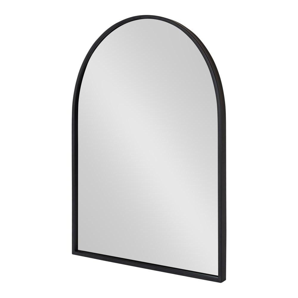 Arch Vertical Wall Mirrors With Regard To Most Up To Date Kate And Laurel Valenti Arch Black Wall Mirror 214477 – The Home Depot (Gallery 2 of 20)
