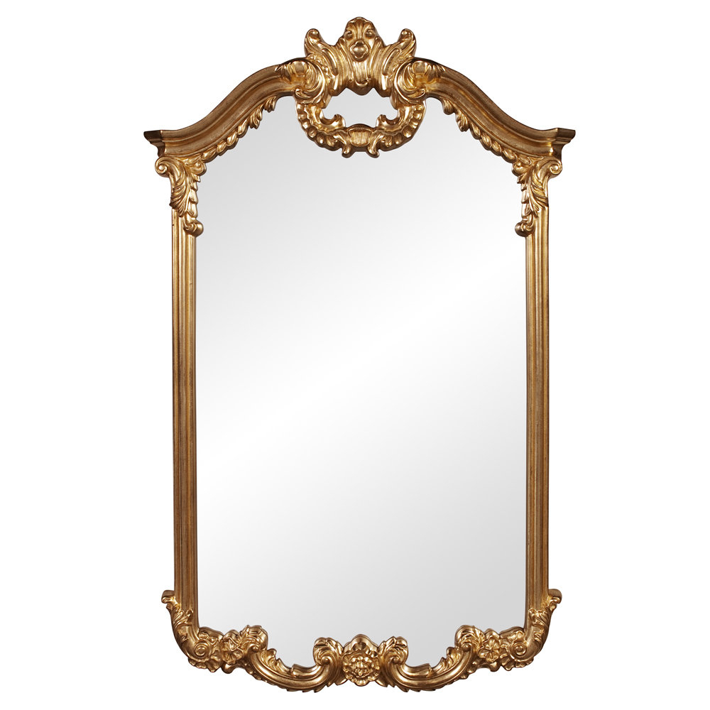 Archcrowned Top Bright Gold Wall Mirror With Regard To Popular Saylor Wall Mirrors (View 7 of 20)