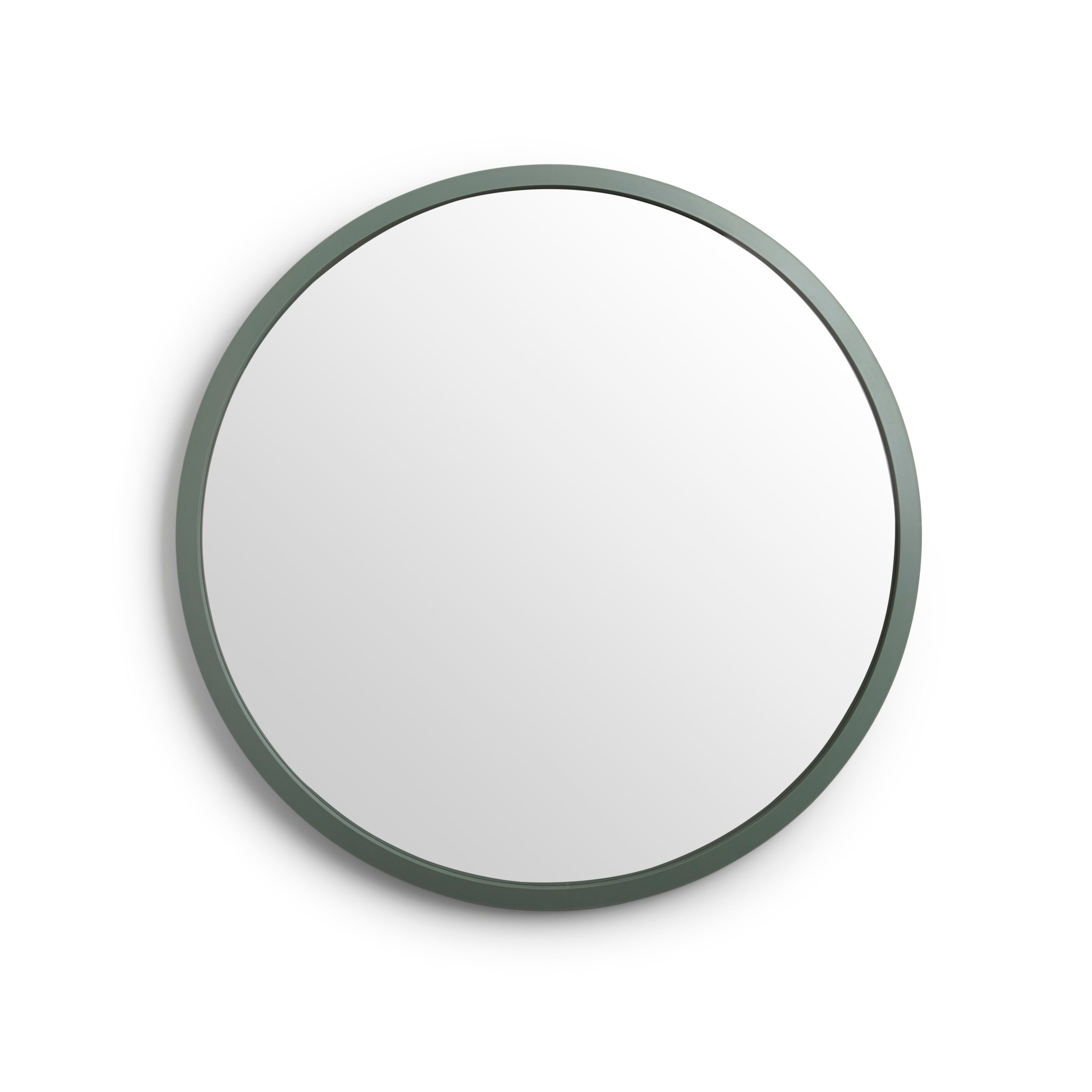 Arrigo Accent Mirrors Throughout Well Known Umbra Hub Round Modern Wall Mount Mirror (View 5 of 20)