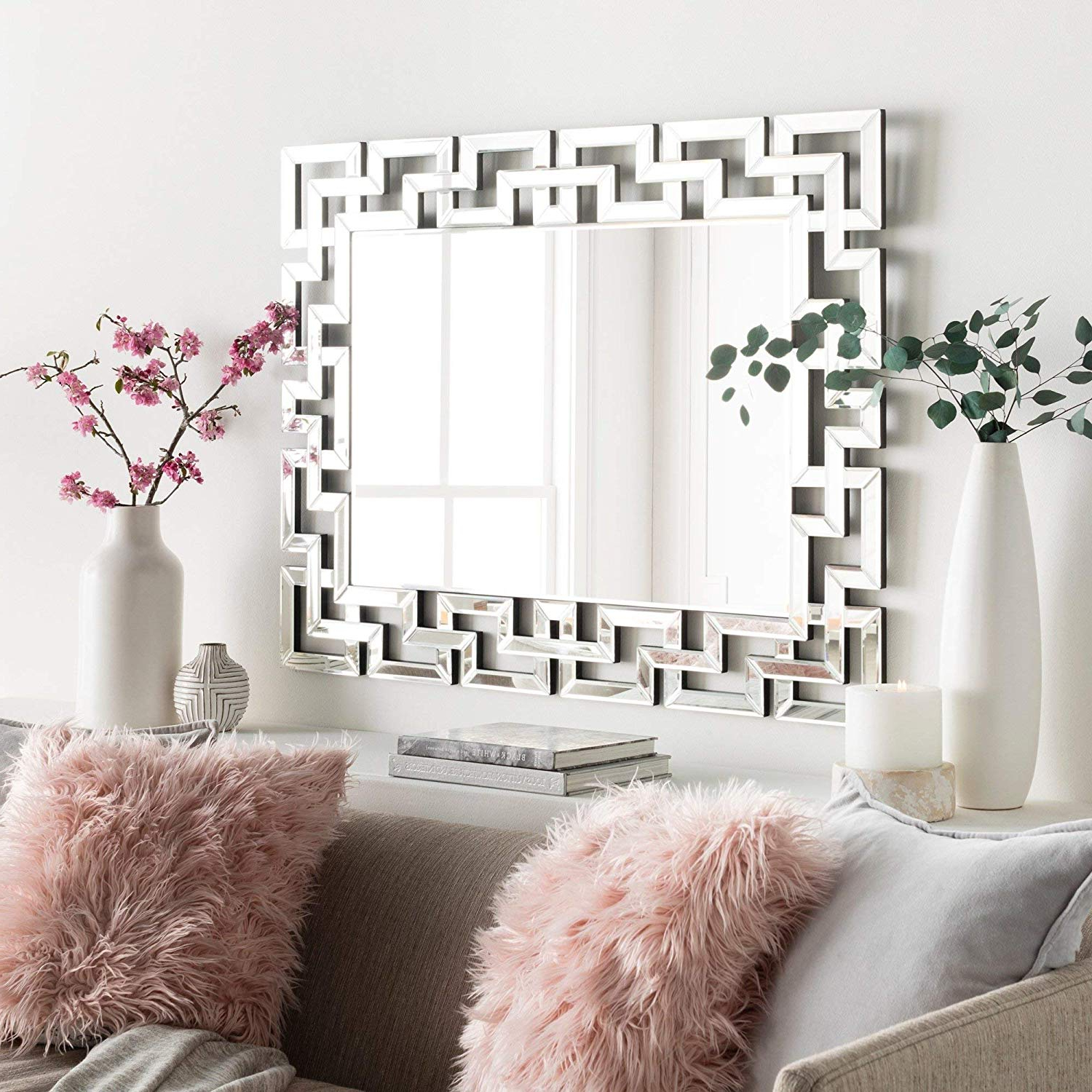 "Art Decorative Wall Mirrors Large Grecian Venetian Mirror For Hotel Home  Vanity Sliver Mirror (27.5"" W X (View 3 of 20)"