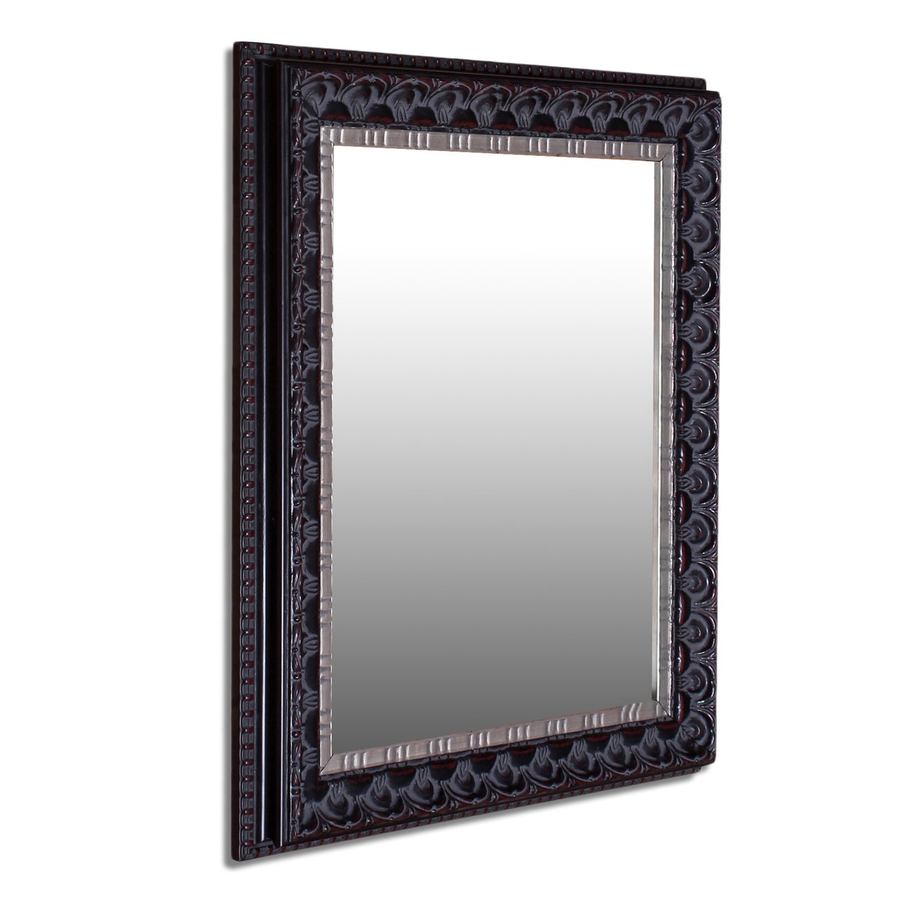 Art Street Floral Antique Decorative Wall Mirror Black Color 12 X18 Inch, Outer Size 16 X22 Inch Within Most Up To Date Black Decorative Wall Mirrors (View 3 of 20)