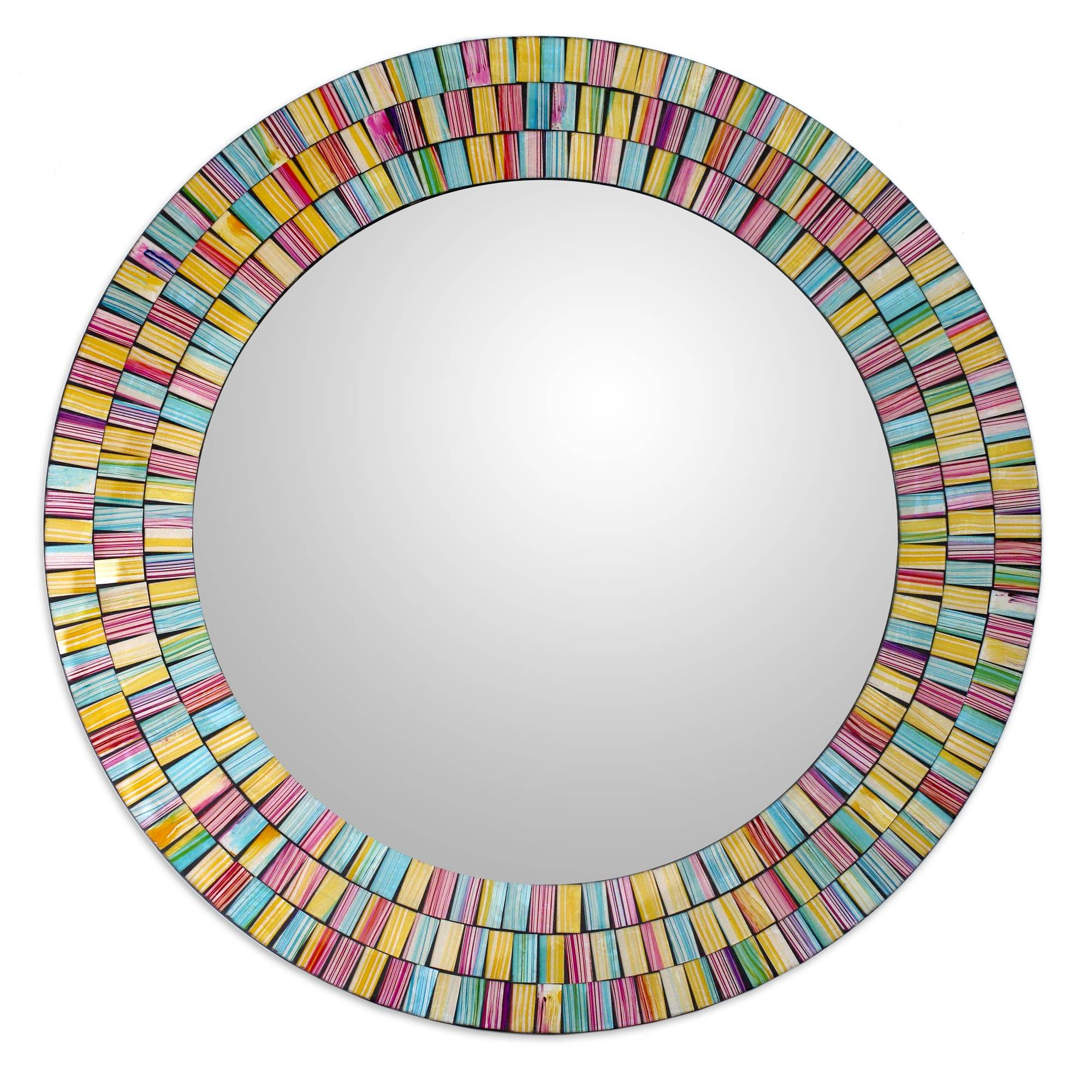 Artisan Crafted Glass Mosaic Wall Mirror In Many Throughout Most Recently Released Colorful Wall Mirrors (View 16 of 20)