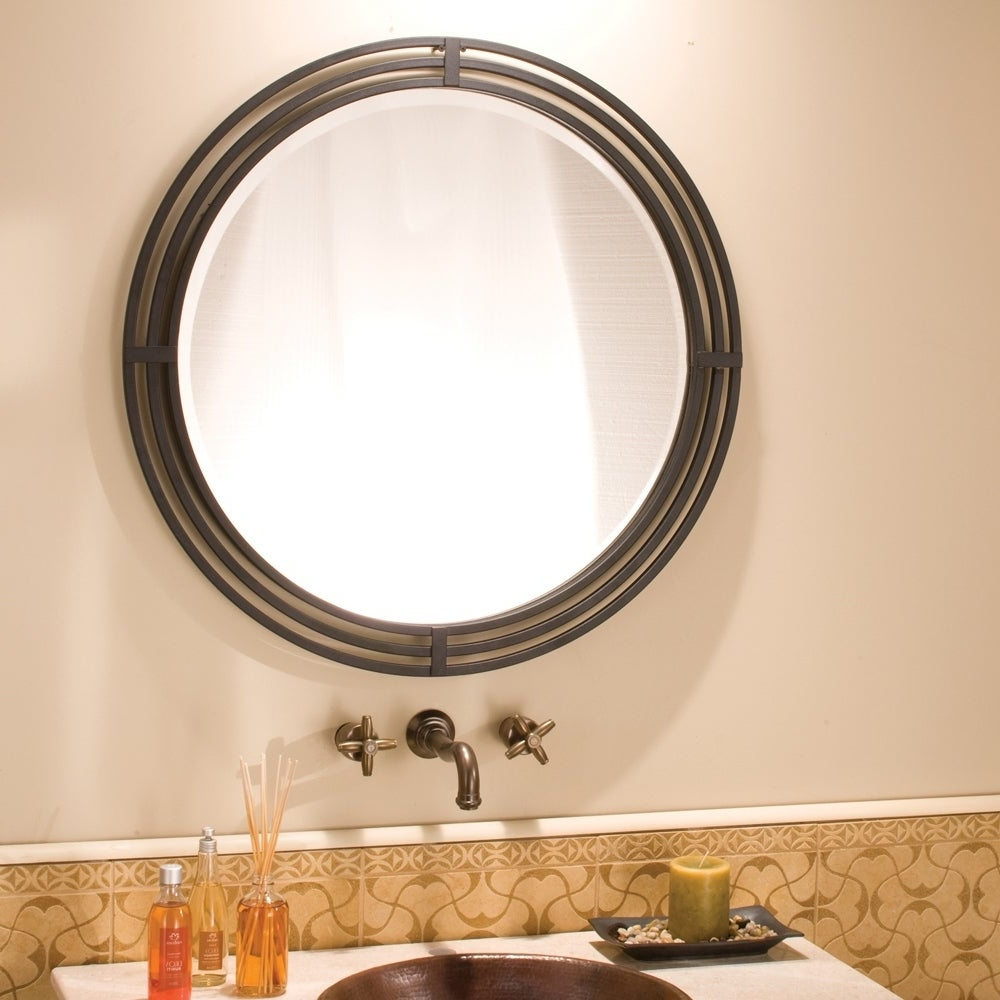 Asana Black Round Wrought Iron Mirror – A/n Pertaining To Famous Wrought Iron Wall Mirrors (View 20 of 20)