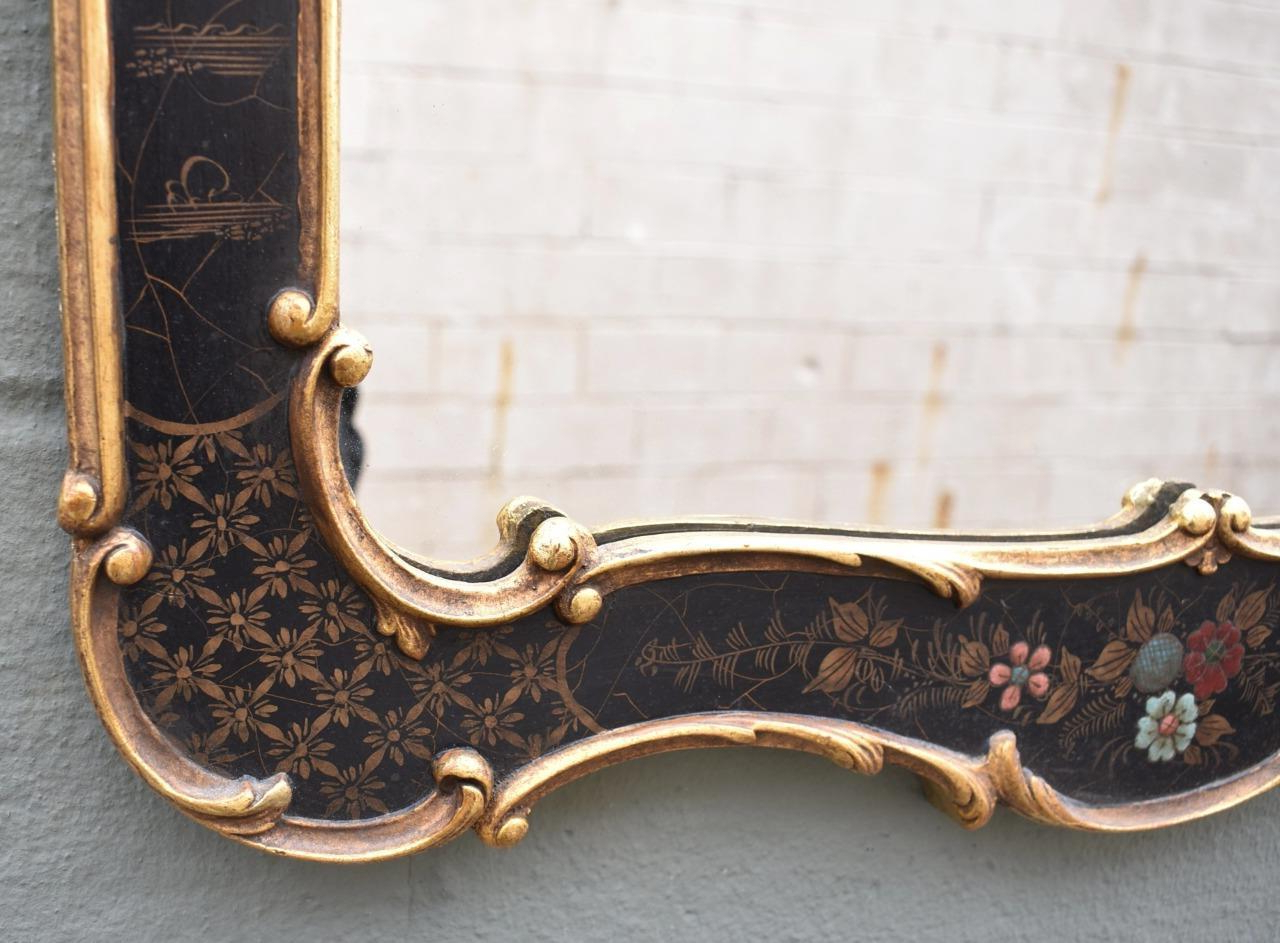 Asian Style Black Chinoiserie Wall Mirrord (View 13 of 20)