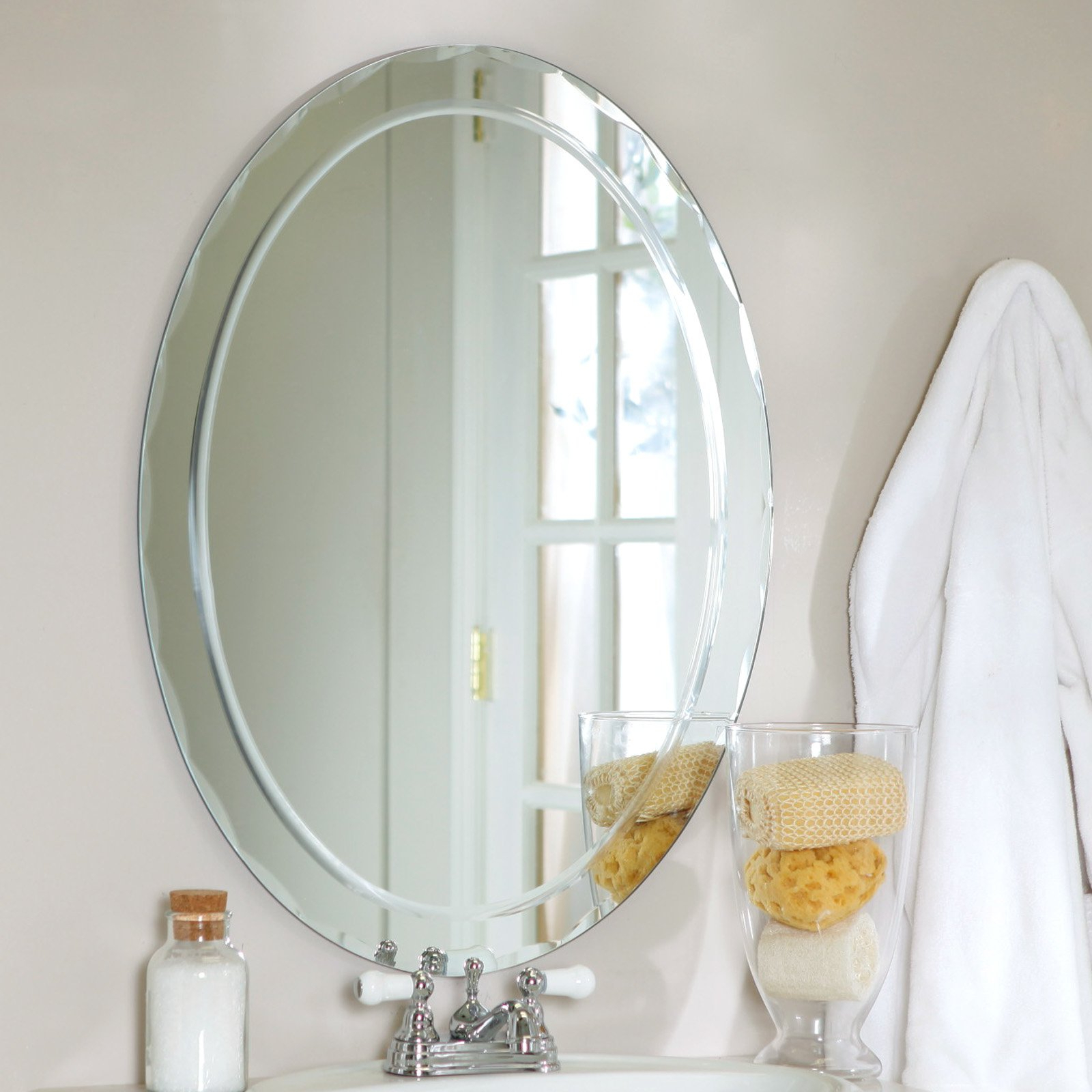 Astonishing Beveled Wall Mirror Bathroom Tiles Strips Lighted Glass Inside Best And Newest Frameless Beveled Wall Mirrors (View 19 of 20)