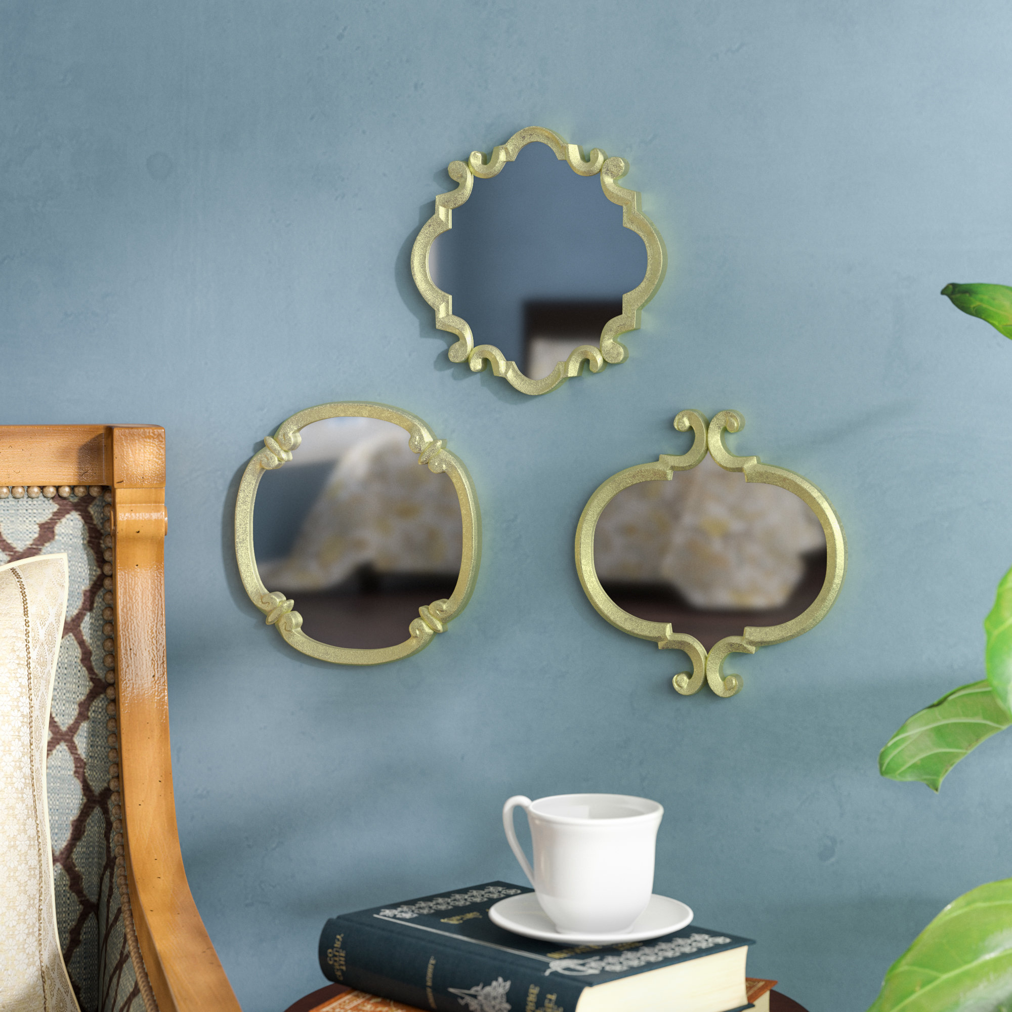 Astoria Grand 3 Piece Contemporary Meadow Wall Mirror Set Intended For Popular Set Of Wall Mirrors (View 19 of 20)