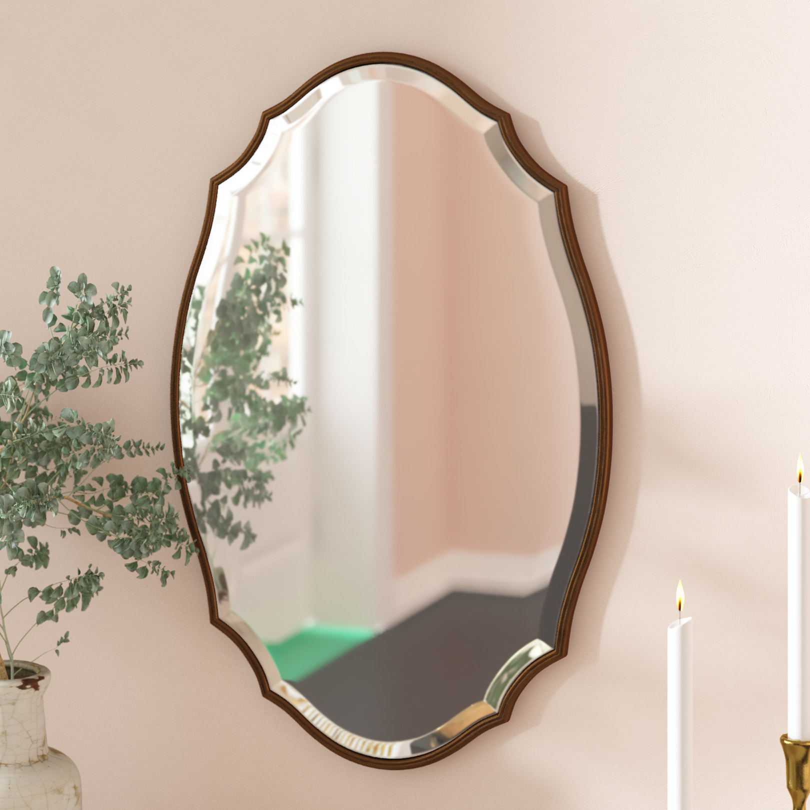 Astrid Modern & Contemporary Accent Mirrors Inside Popular Rosdorf Park Modern & Contemporary Beveled Accent Mirror (View 12 of 20)