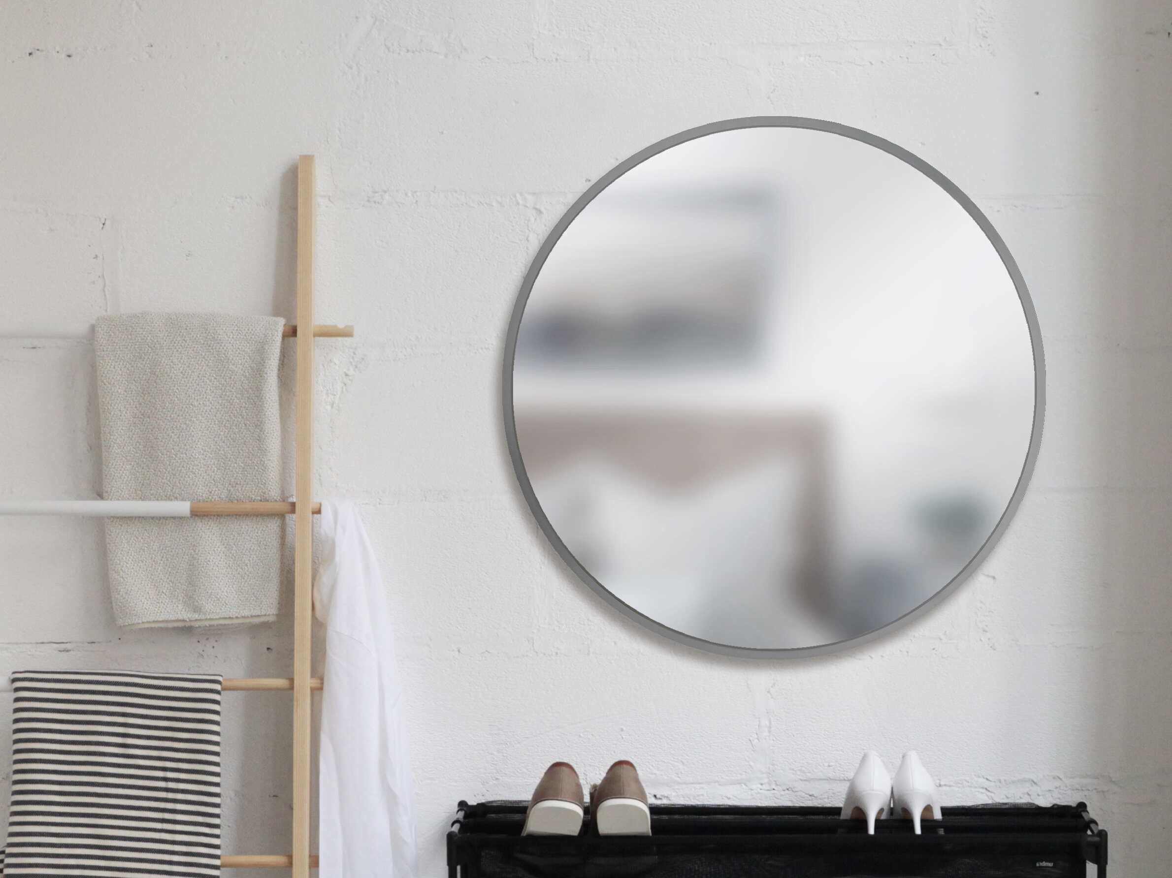 Astrid Modern & Contemporary Accent Mirrors Pertaining To Recent Umbra Hub Modern And Contemporary Accent Mirror (View 15 of 20)