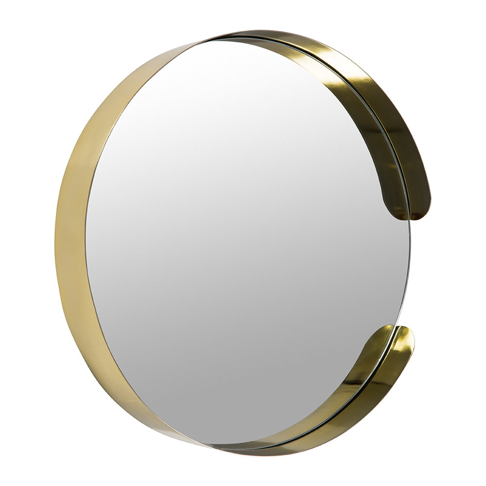 Asymmetric Framed Mirror – Gold Intended For Trendy Elevate Wall Mirrors (View 20 of 20)
