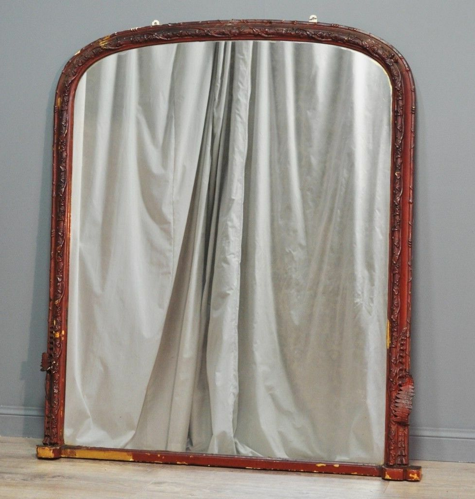 Attractive Large Antique Victorian Wall Mirror For Restoration (View 5 of 20)