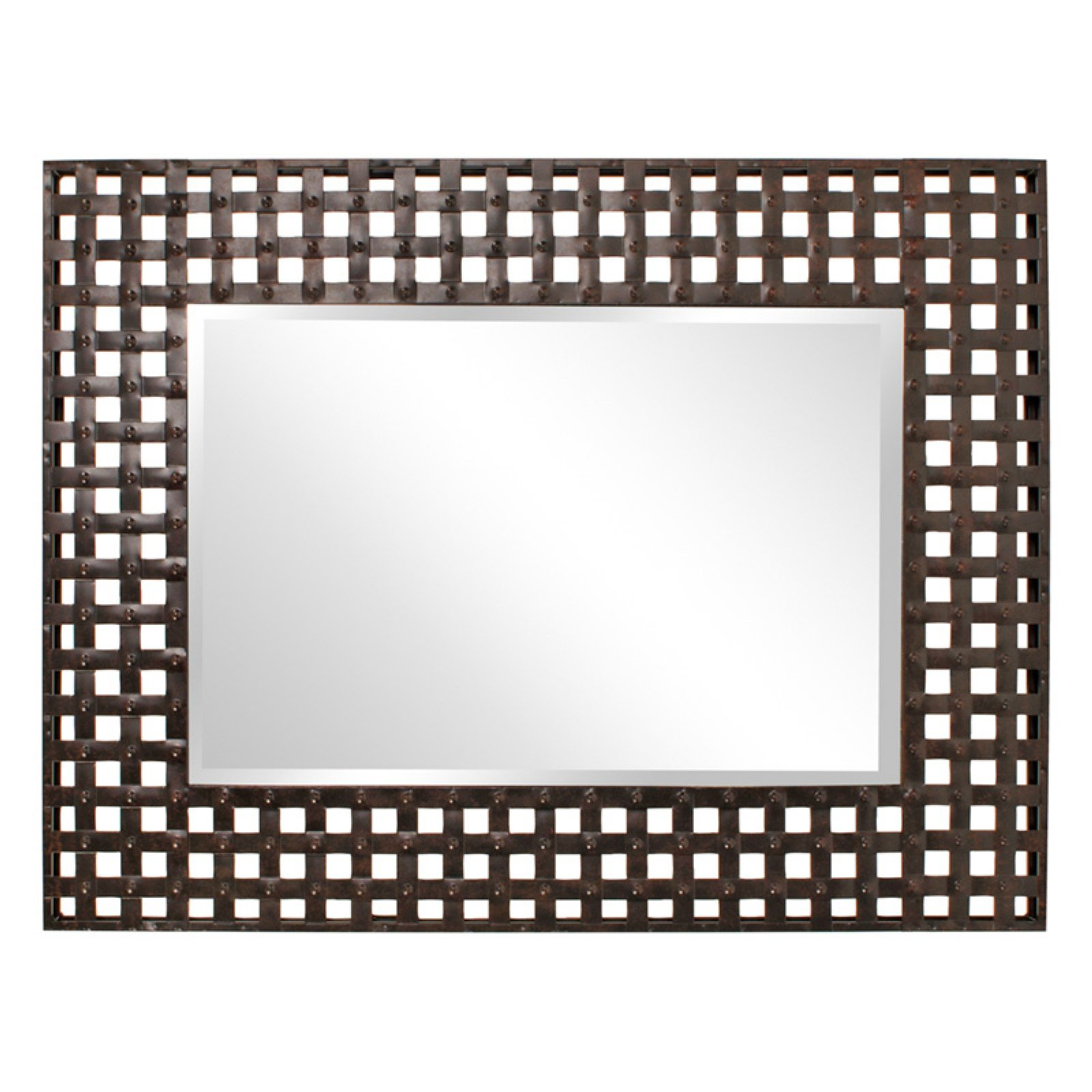 Austin Industrial Accent Mirrors Pertaining To Recent Elizabeth Austin Patrick Industrial Lattice Oversized Mirror – 37W X (View 3 of 20)