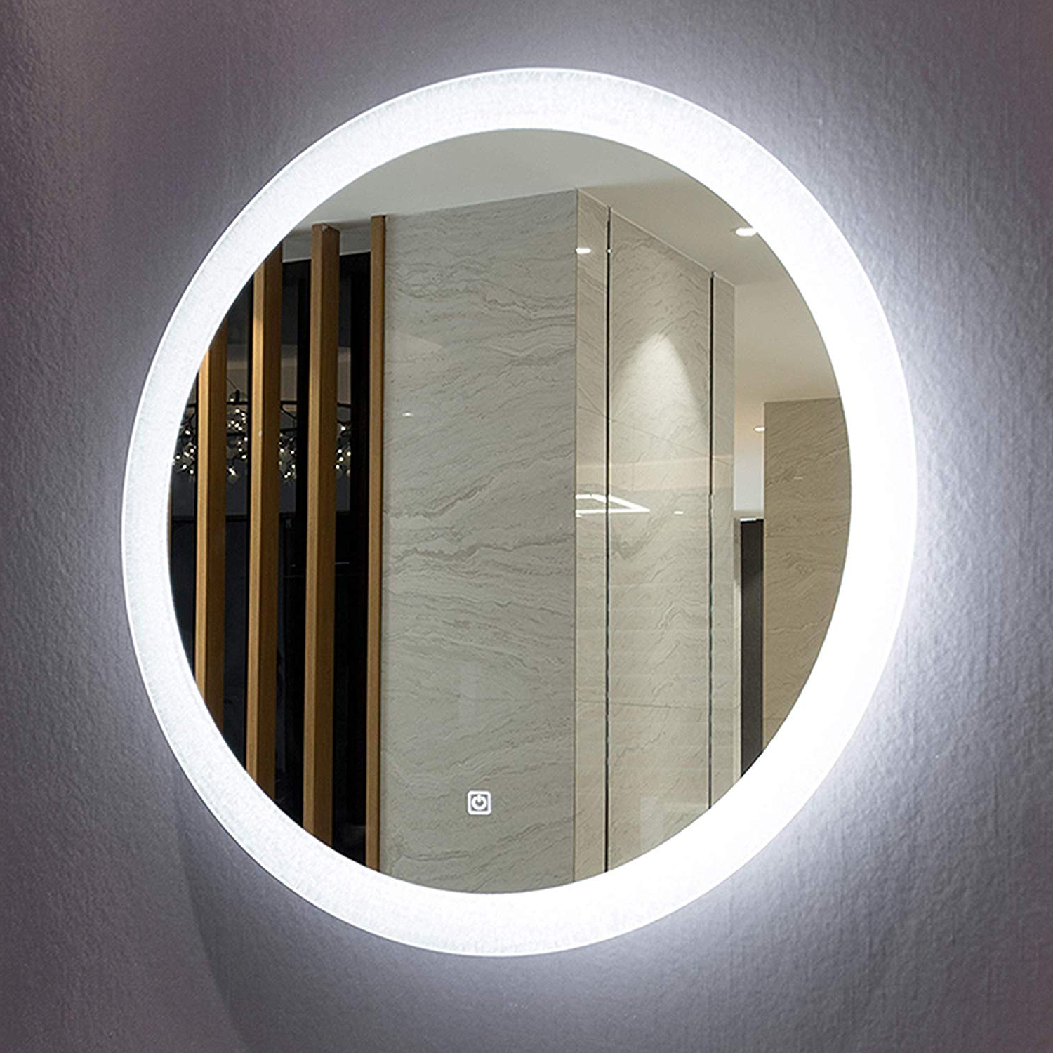 Backlit Wall Mirrors Intended For Latest Amazon: Mirrors And More Led Backlit Wall Mirror (View 5 of 20)