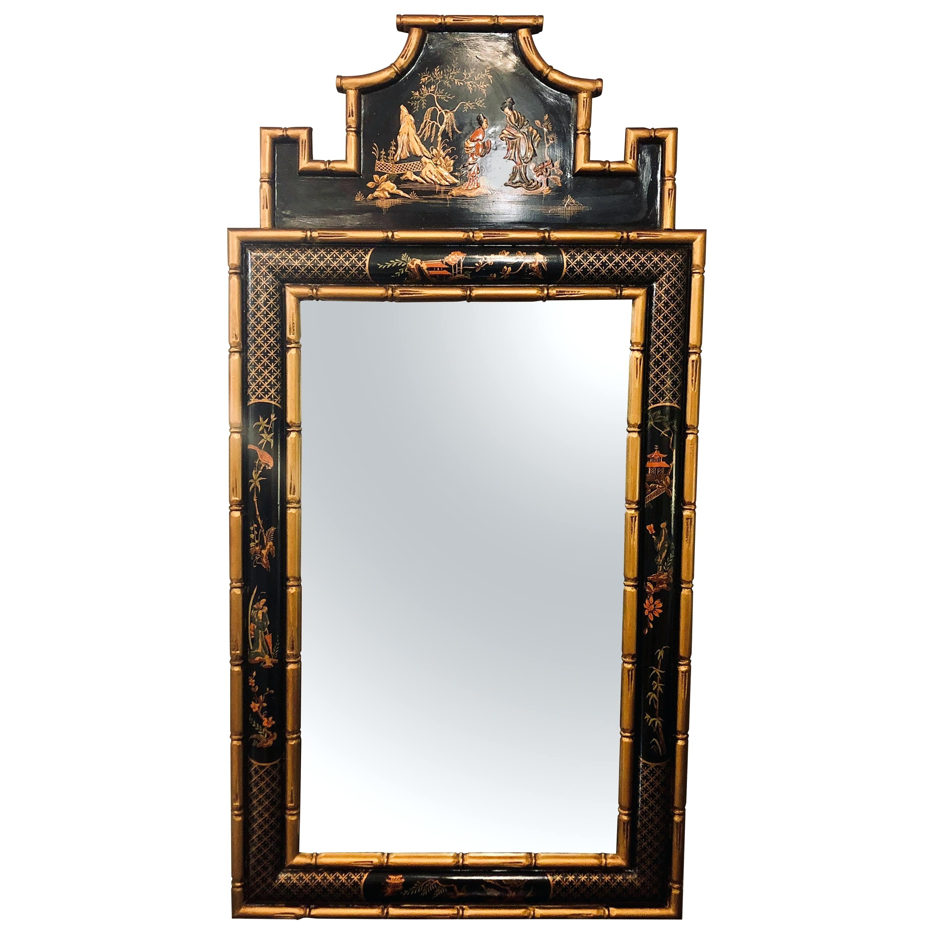 Bamboo Framed Wall Mirrors With Favorite Bamboo Framed Wall Mirrors Frame Mirror Jasmine Faux Bathroom Mirro (View 3 of 20)