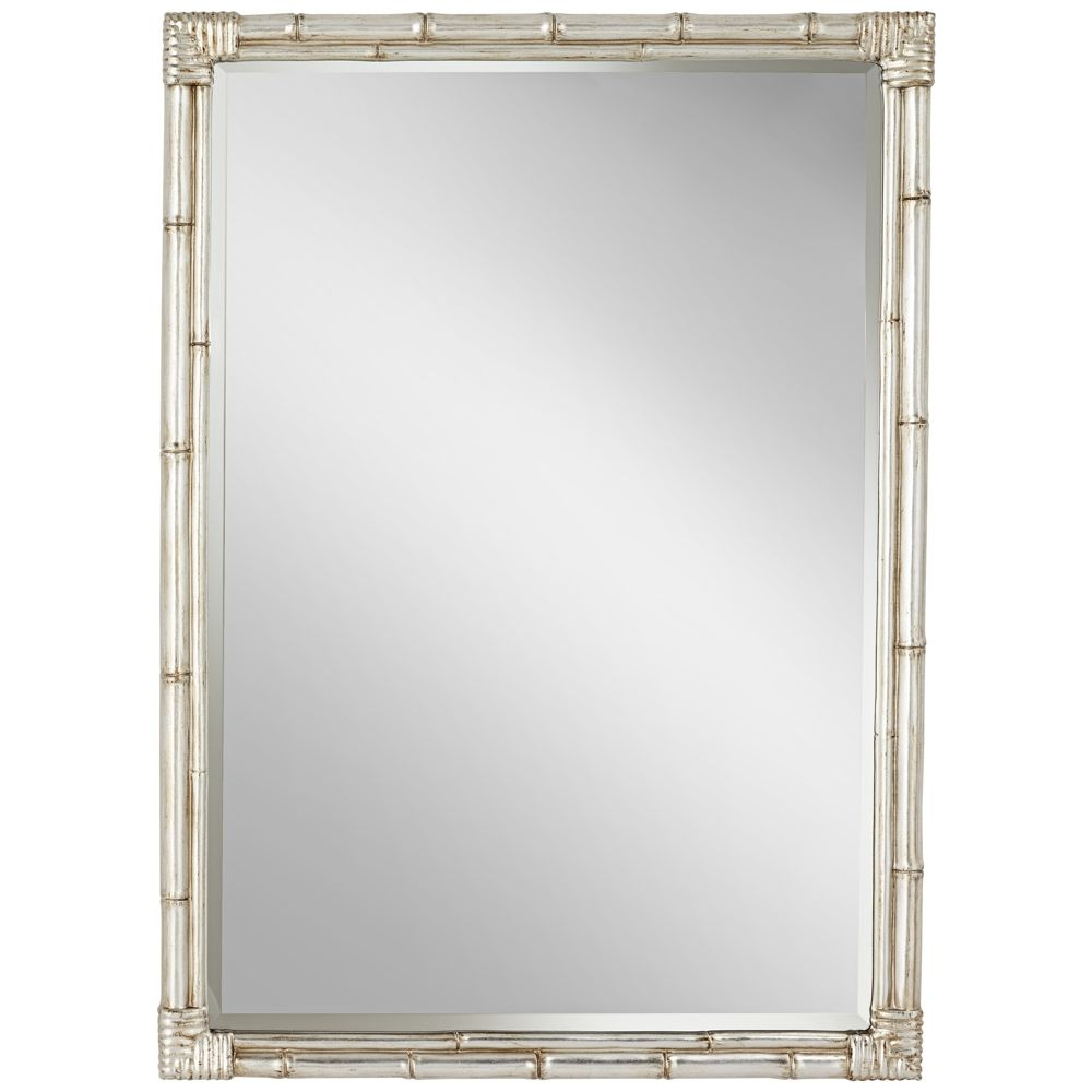 """Bamboo Wall Mirrors With 2020 Takeo Silver Bamboo 31"""" X 43"""" Rectangle Wall Mirror – #15d (View 5 of 20)"""